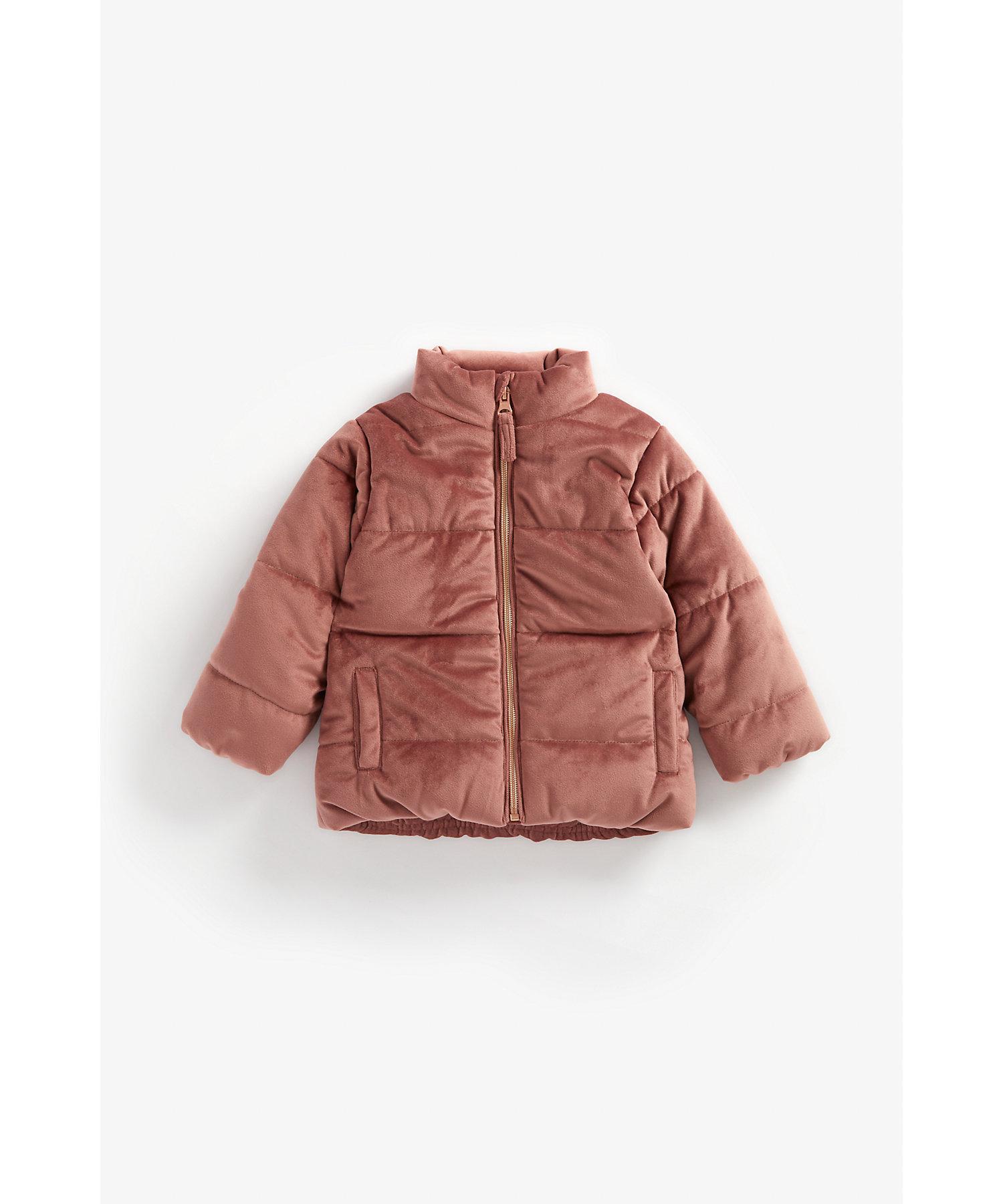 Mothercare | Girls Full Sleeves Velour Jacket - Blush