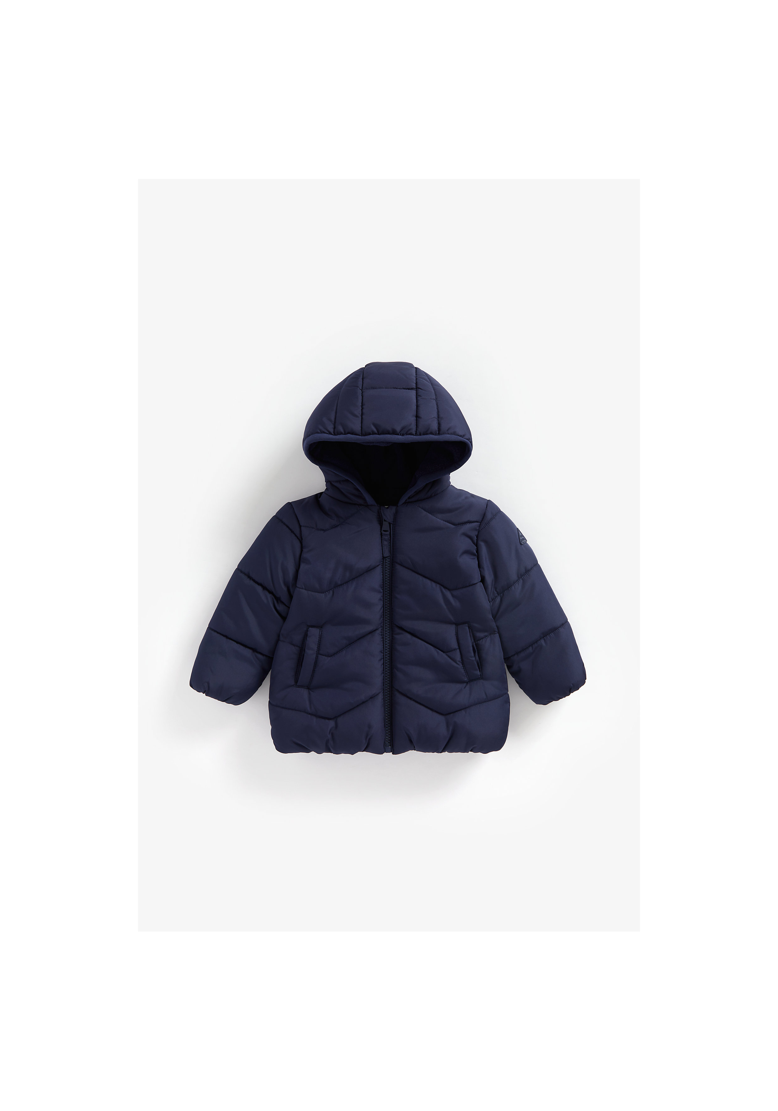 Mothercare | Boys Full Sleeves Hooded Jacket Fleece Lined - Navy