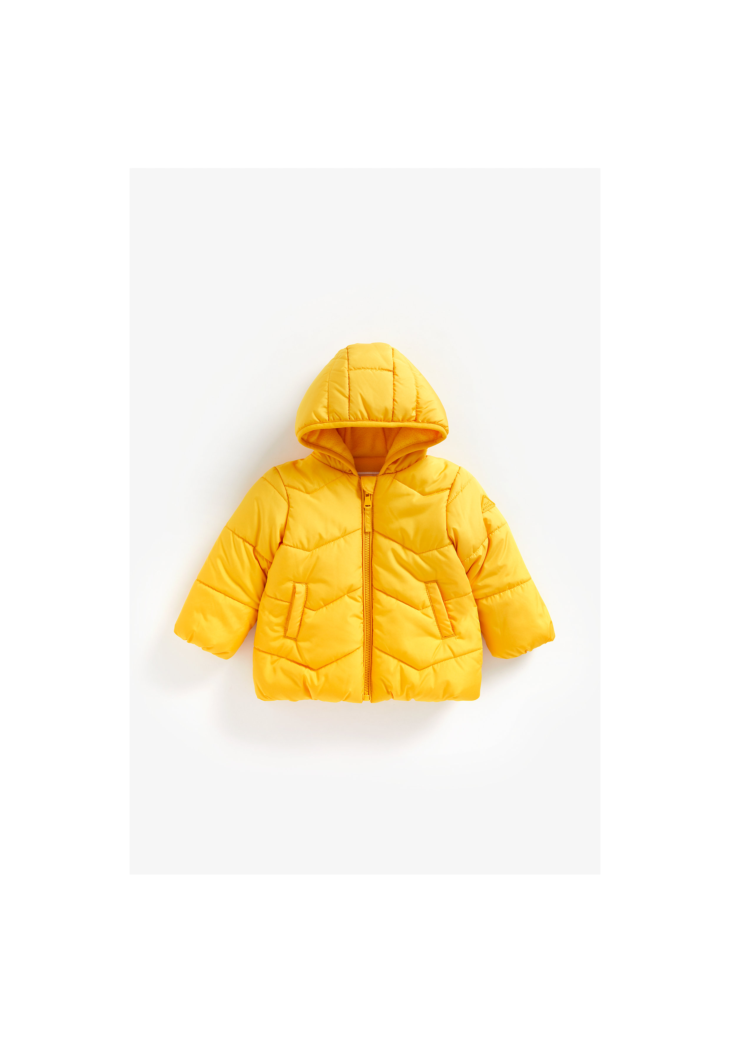 Mothercare | Boys Full Sleeves Fleece Lined Quilted Jacket - Yellow