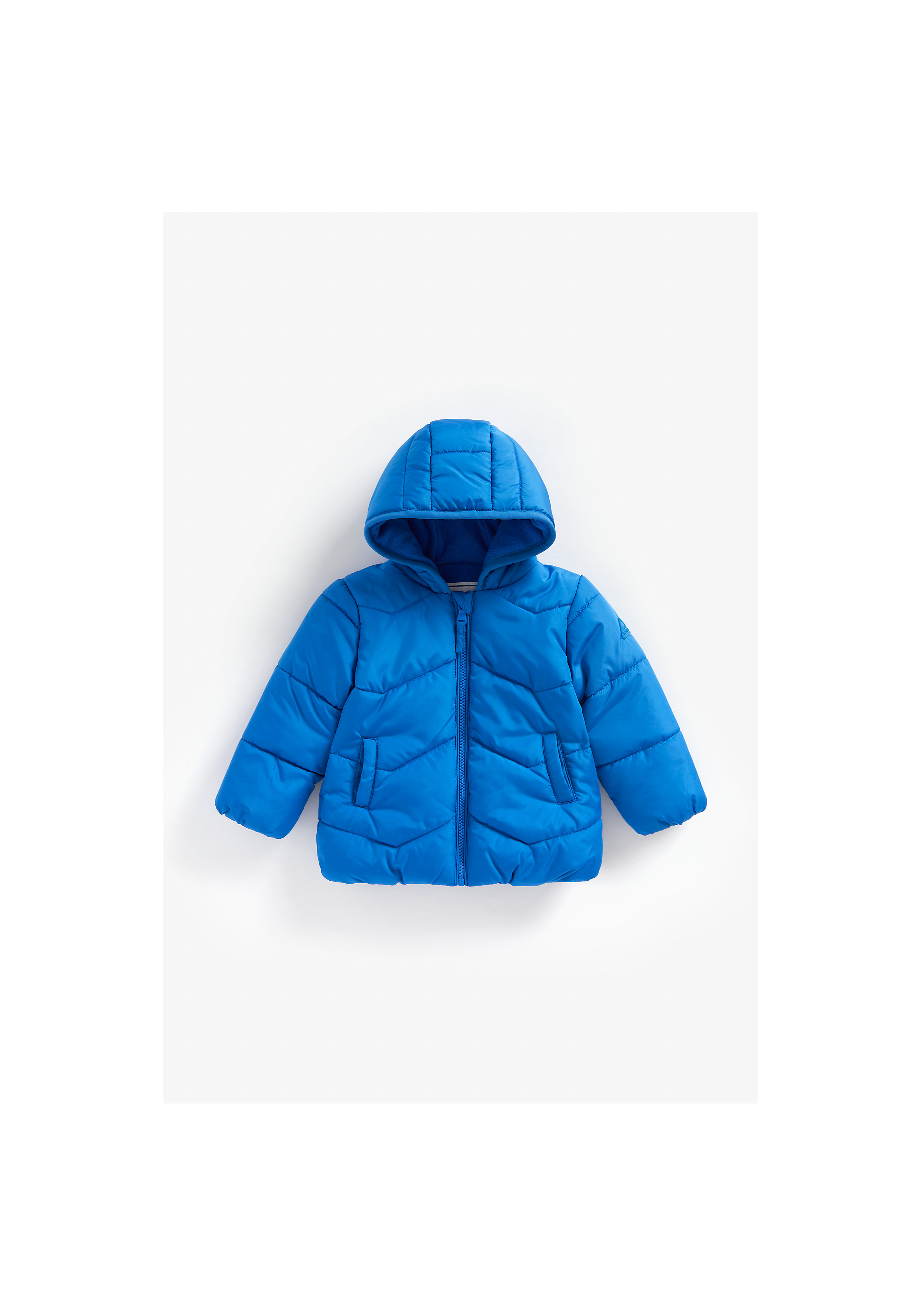 Mothercare | Boys Full Sleeves Fleece Lined Jacket Hooded - Blue
