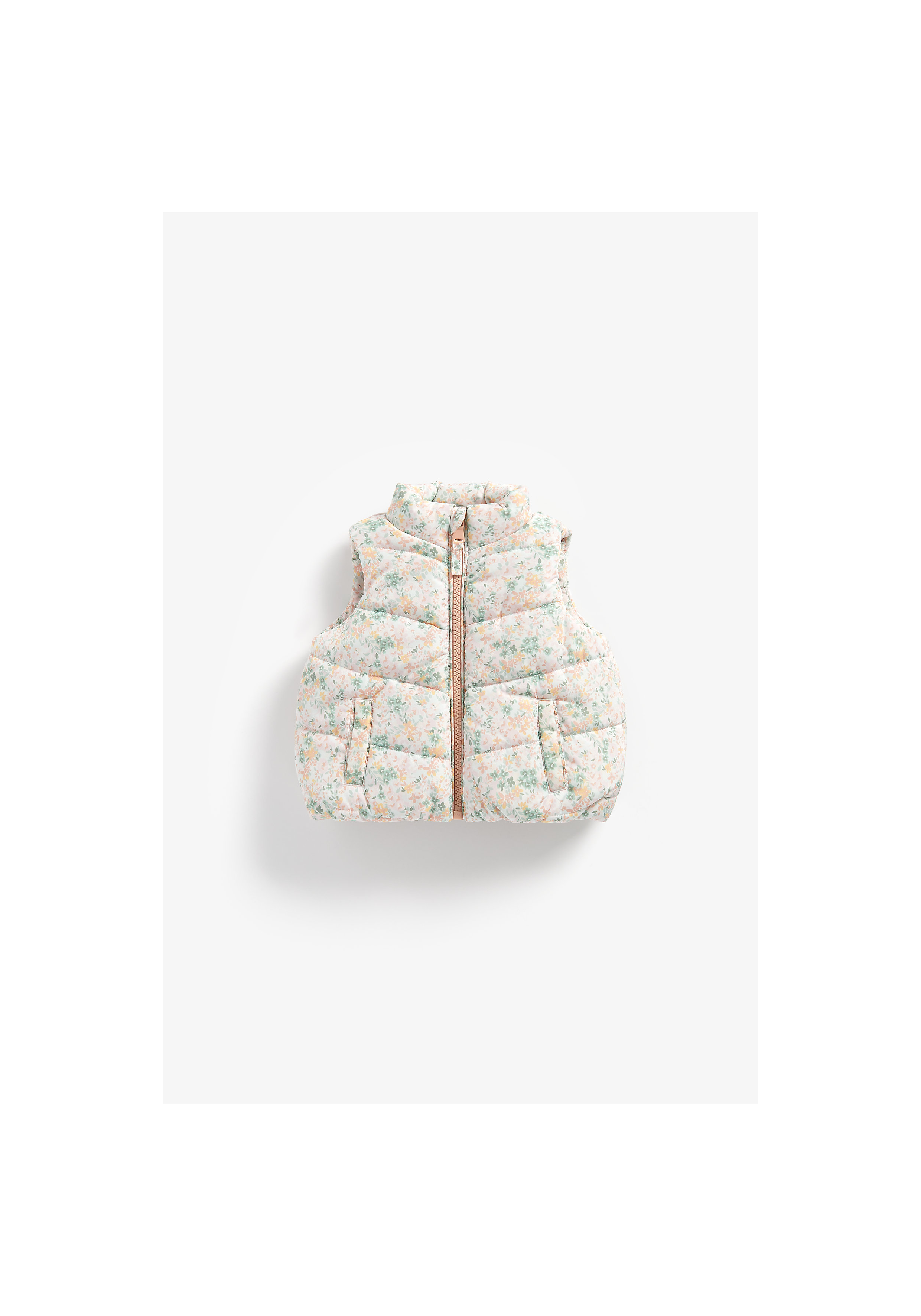 Mothercare | Girls Sleeveless Jacket Floral Print - Multicolor