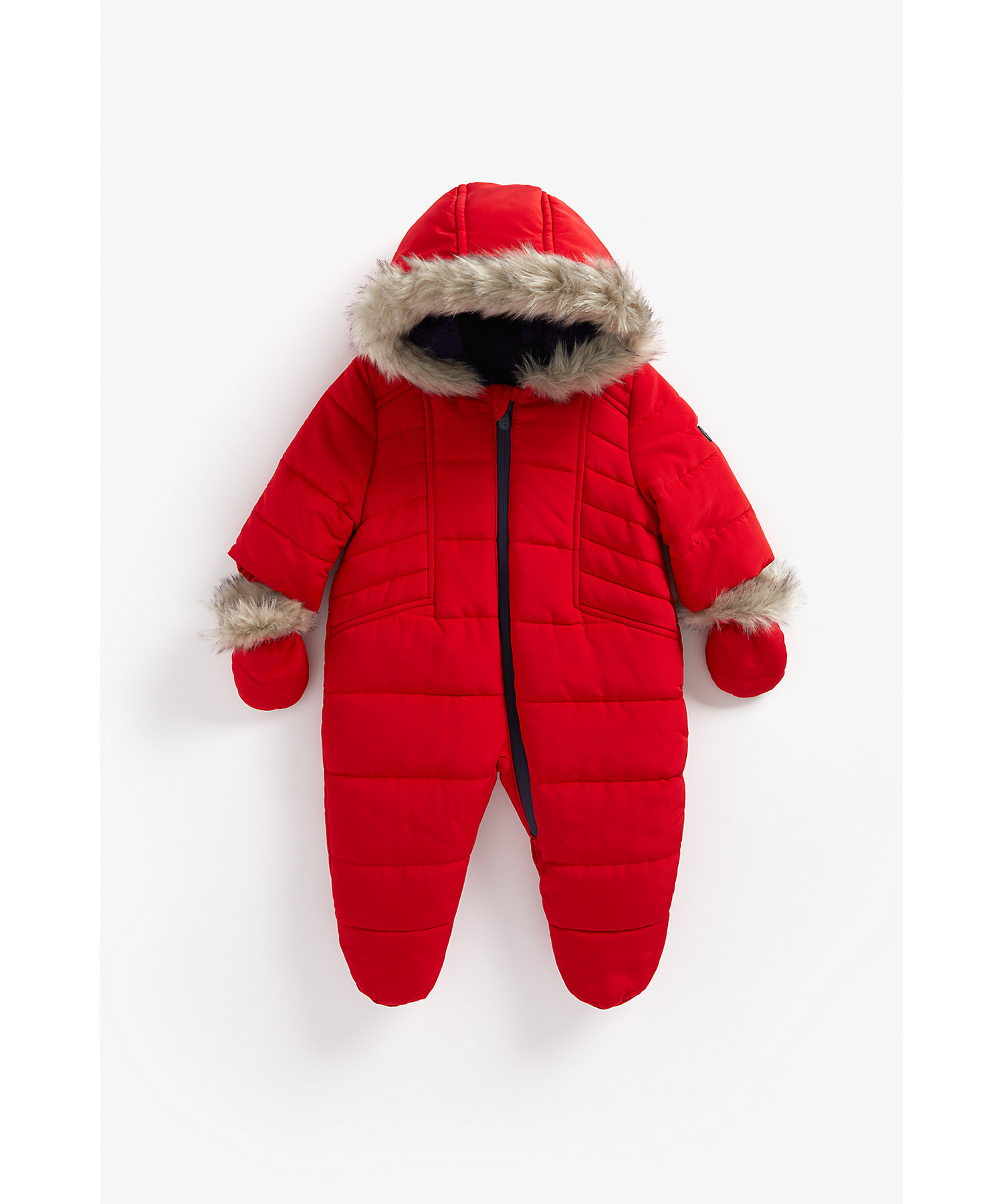 Mothercare | Boys Full Sleeves Snowsuit Hooded - Red