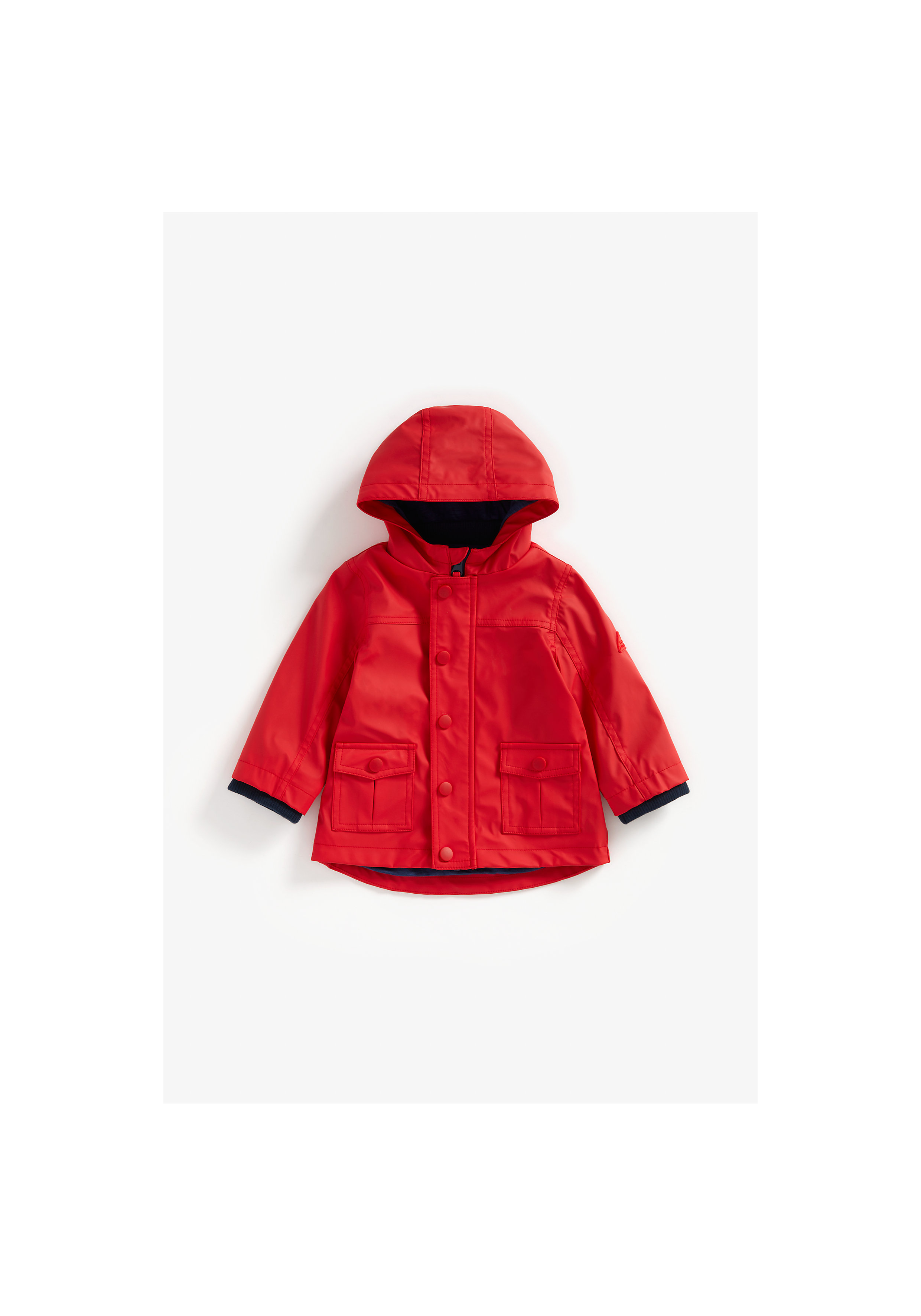 Mothercare | Boys Full Sleeves Jacket Pocket Detail - Red