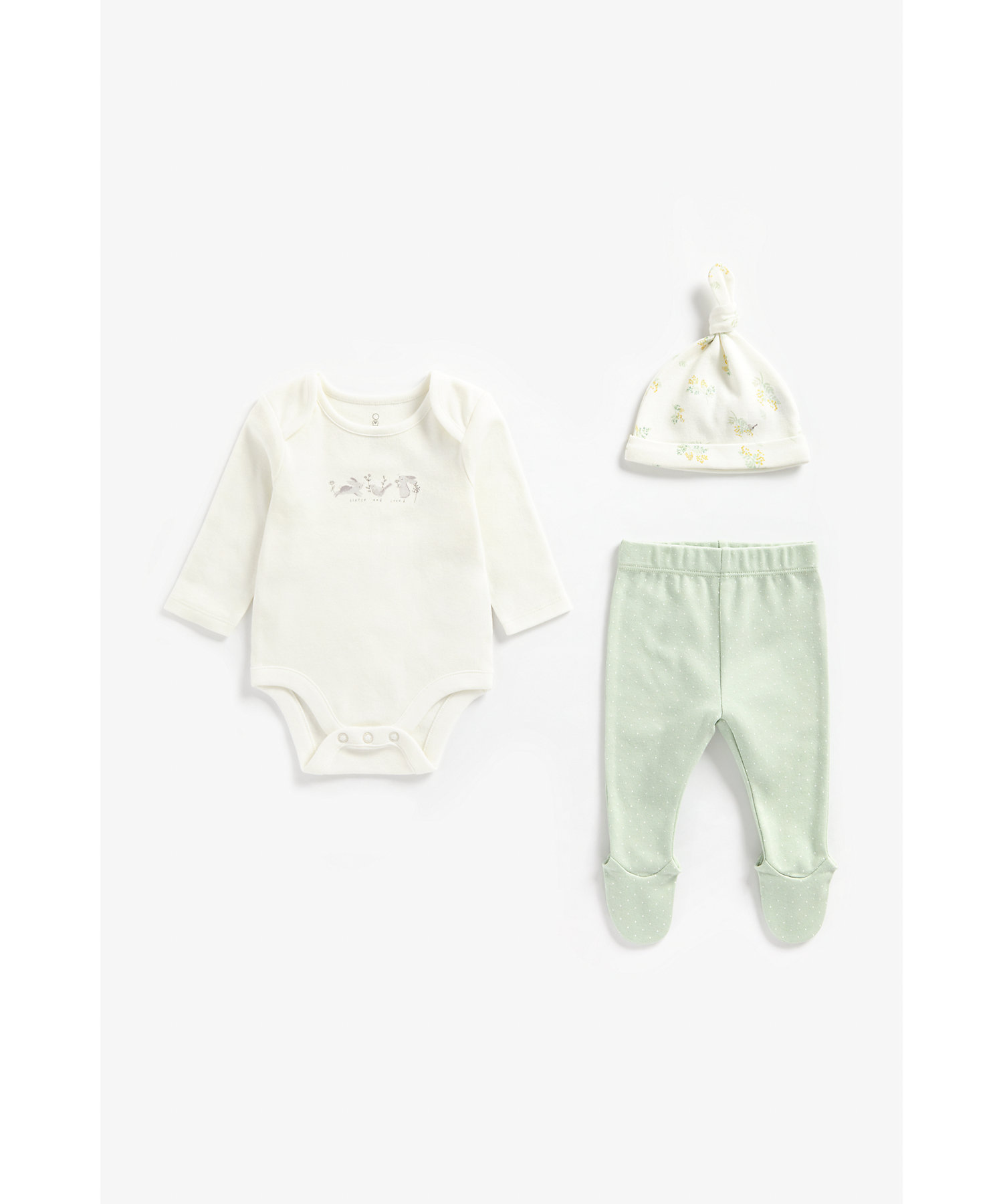 Mothercare | Girls Full Sleeves 3 Piece Set Printed - Multicolor