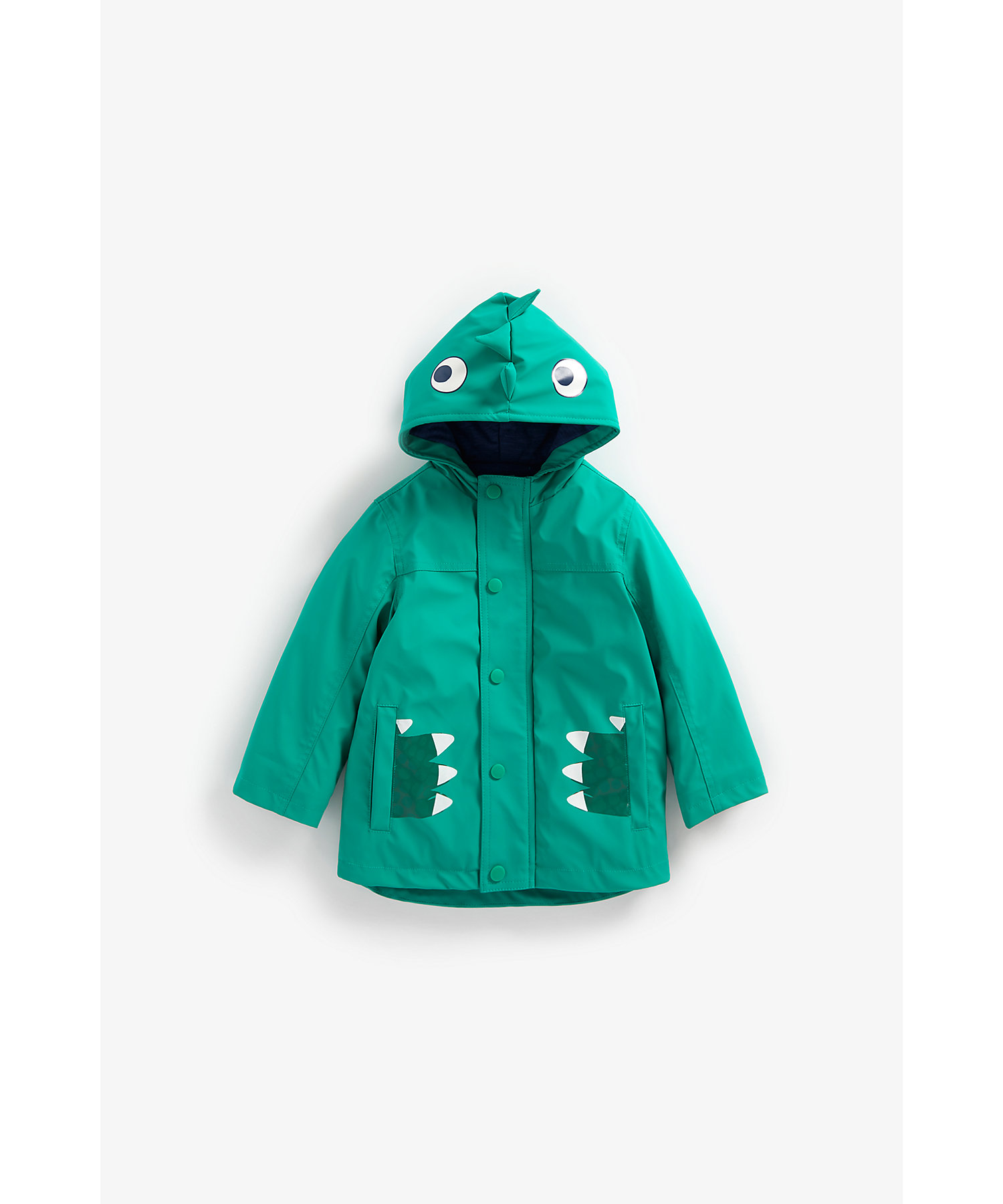 Mothercare | Boys Full Sleeves Jersey Lined Jacket 3D Spikes - Green