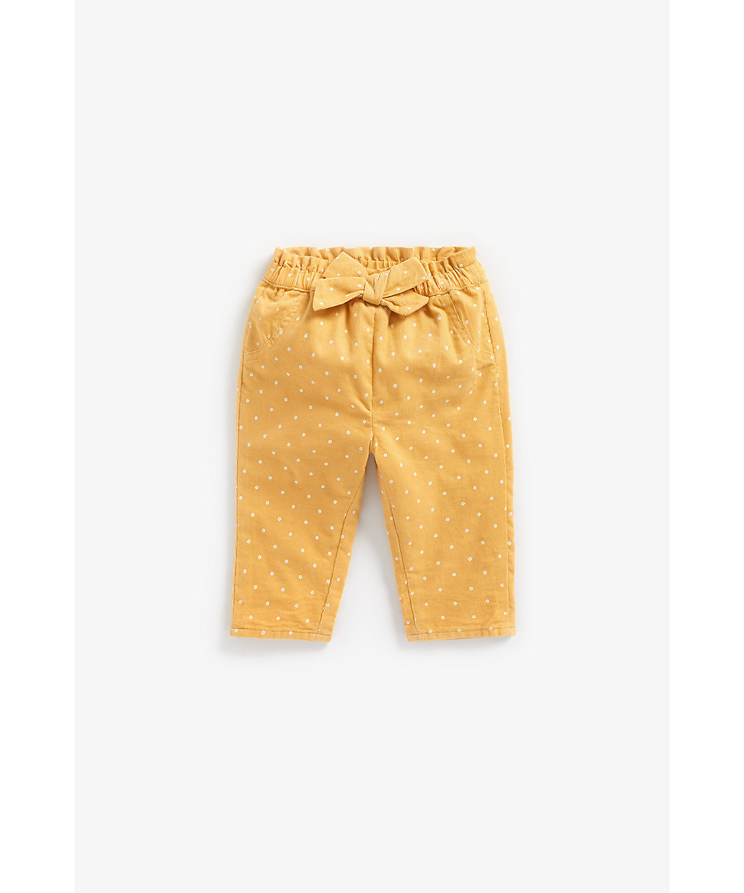 Mothercare | Girls Trousers Bow Detail - Mustard