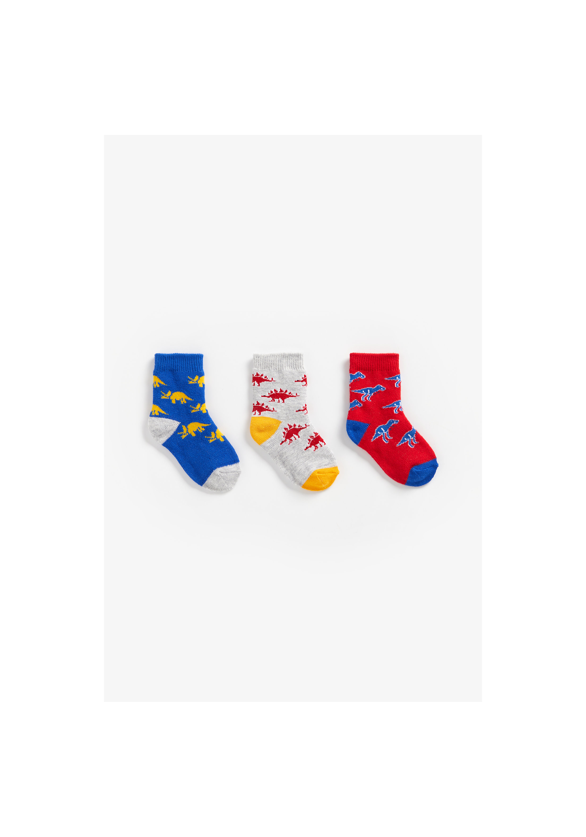 Mothercare   Boys Socks Dino Design - Pack Of 3 - Multicolor
