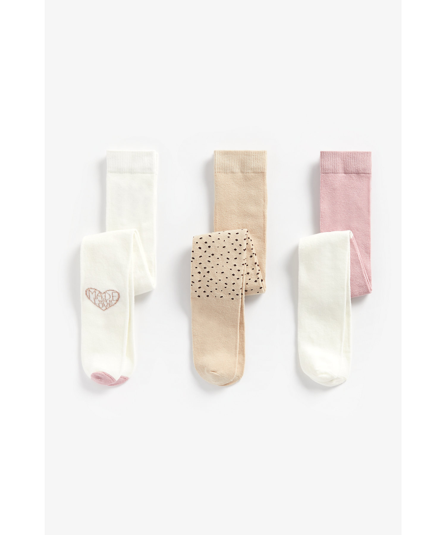 Mothercare | Girls Tights Cat Design - Pack Of 3 - Multicolor