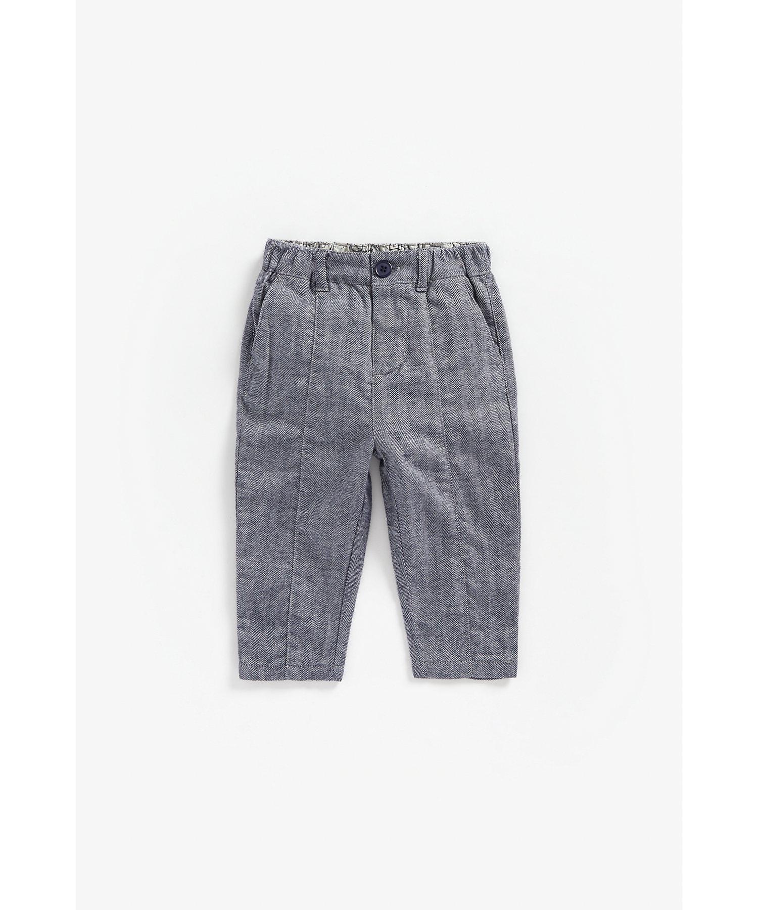 Mothercare | Boys Herringbone Trousers - Blue