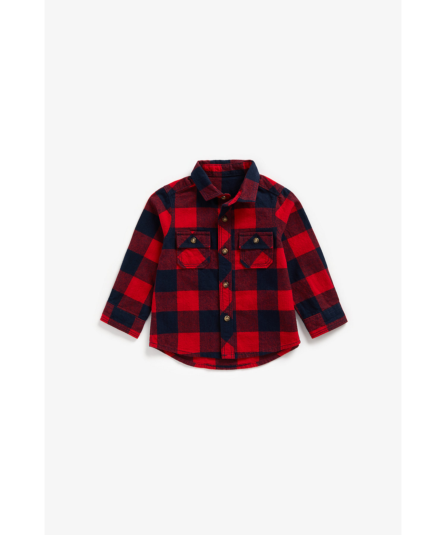 Mothercare | Boys Full Sleeves Check Shirt - Red