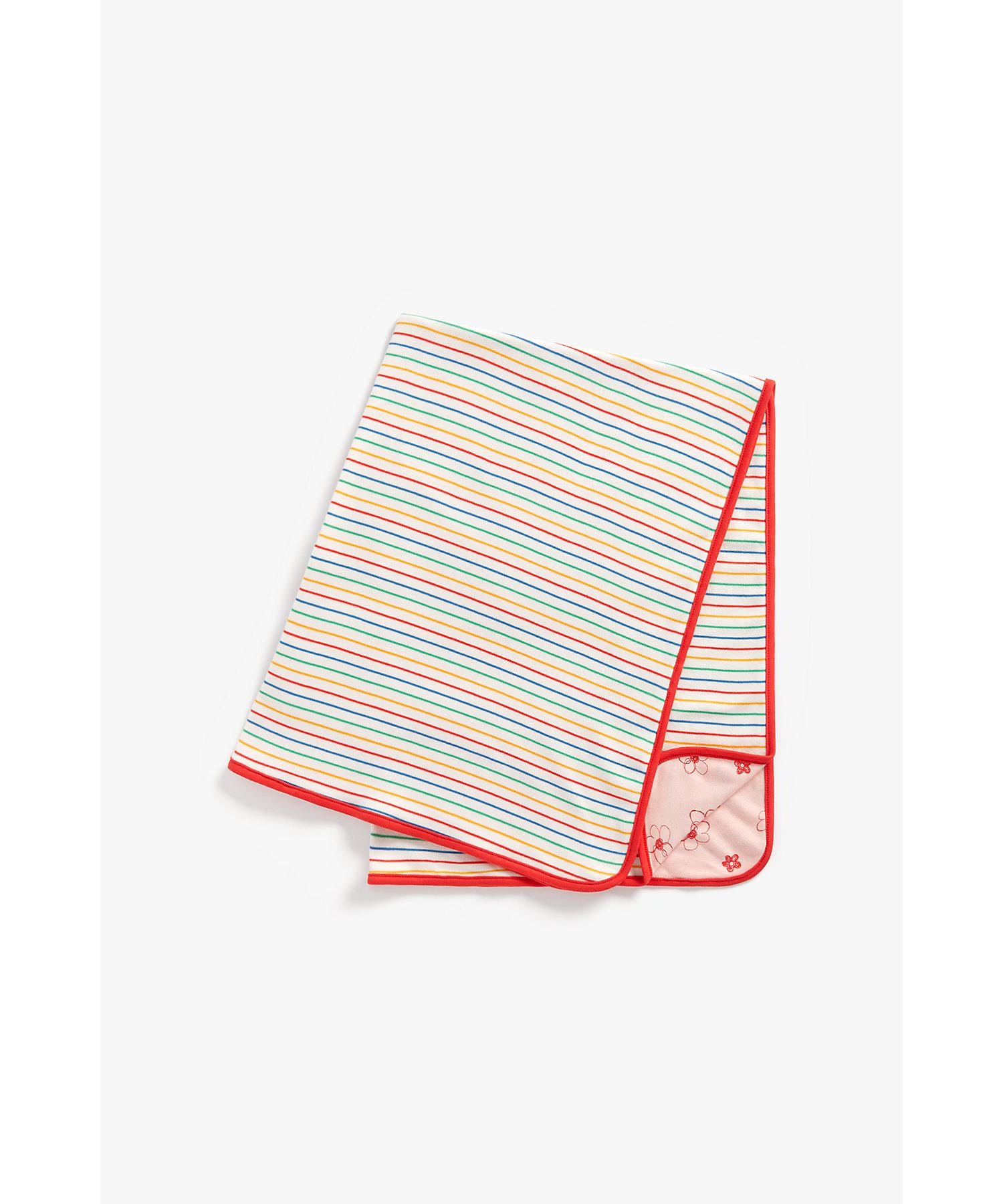 Mothercare | Girls Shawl Rainbow Stripe - Multicolor