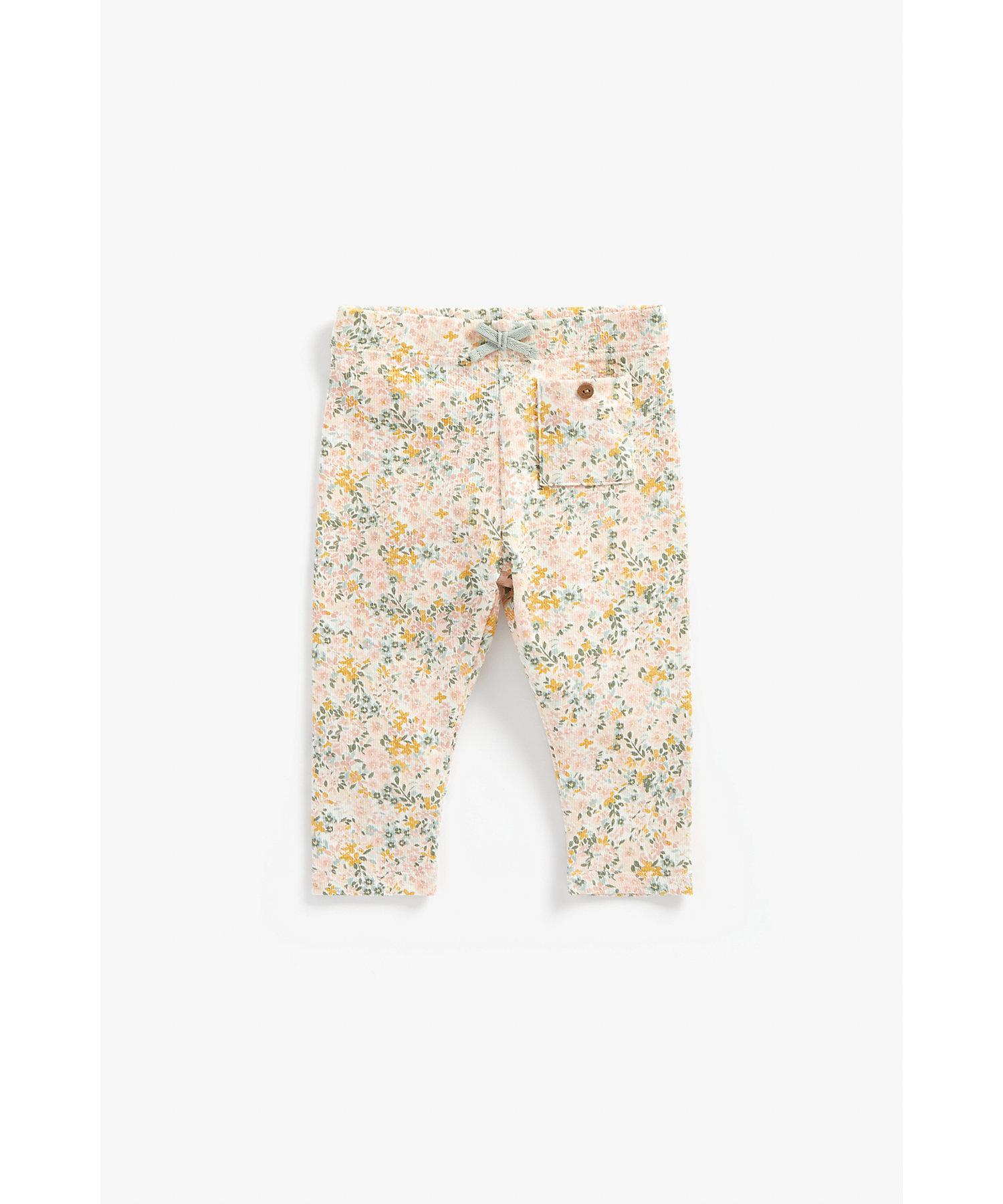 Mothercare   Girls Leggings Floral Print - Multicolor
