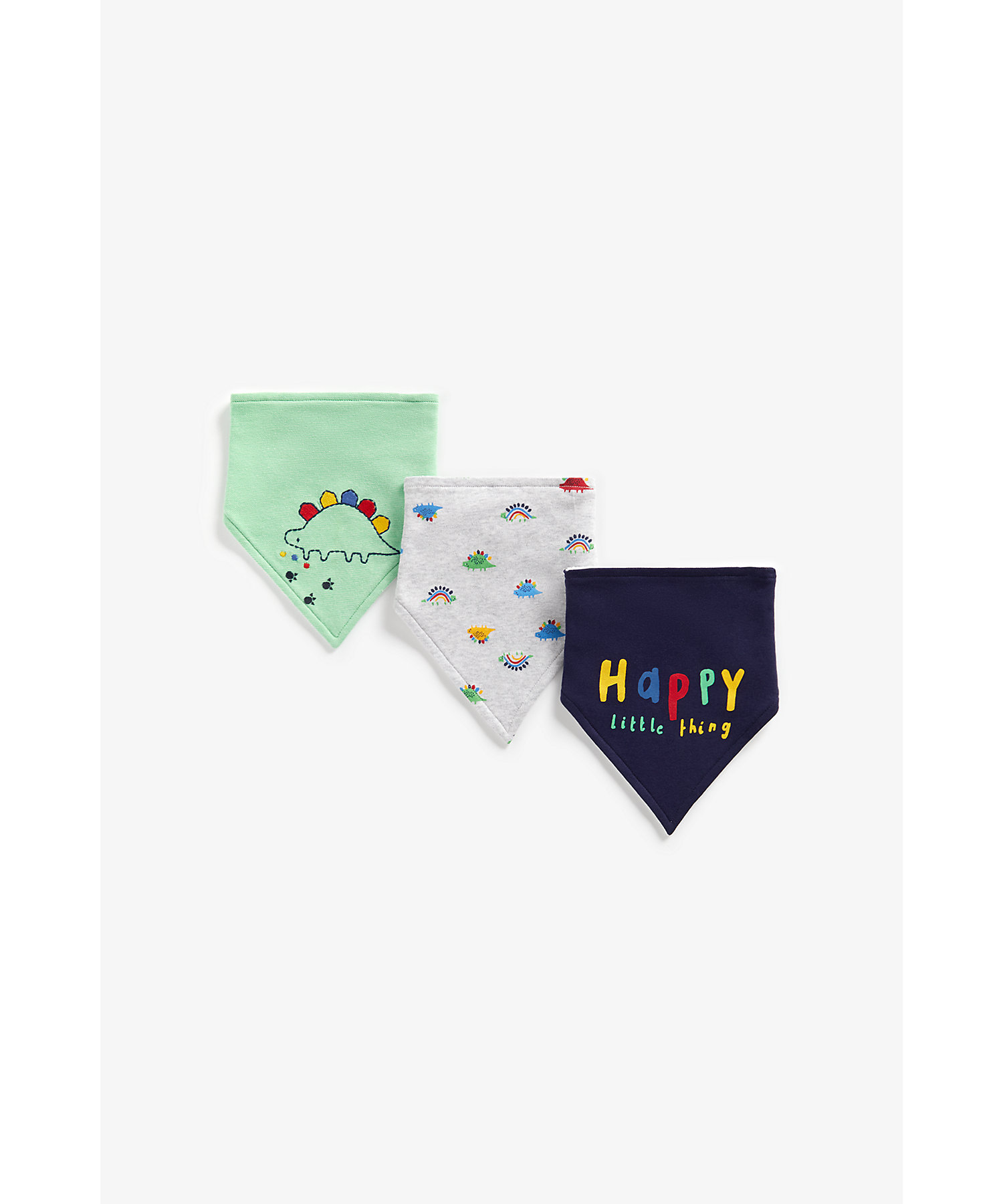 Mothercare   Boys Bibs Dino Embroidery - Pack Of 3 - Multicolor