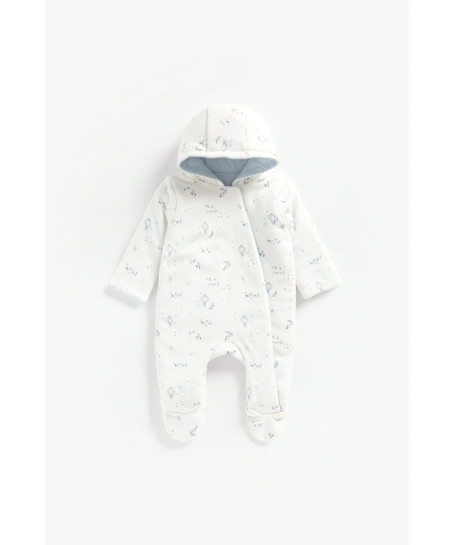 Mothercare | Boys Full Sleeves Snowsuit Printed - White