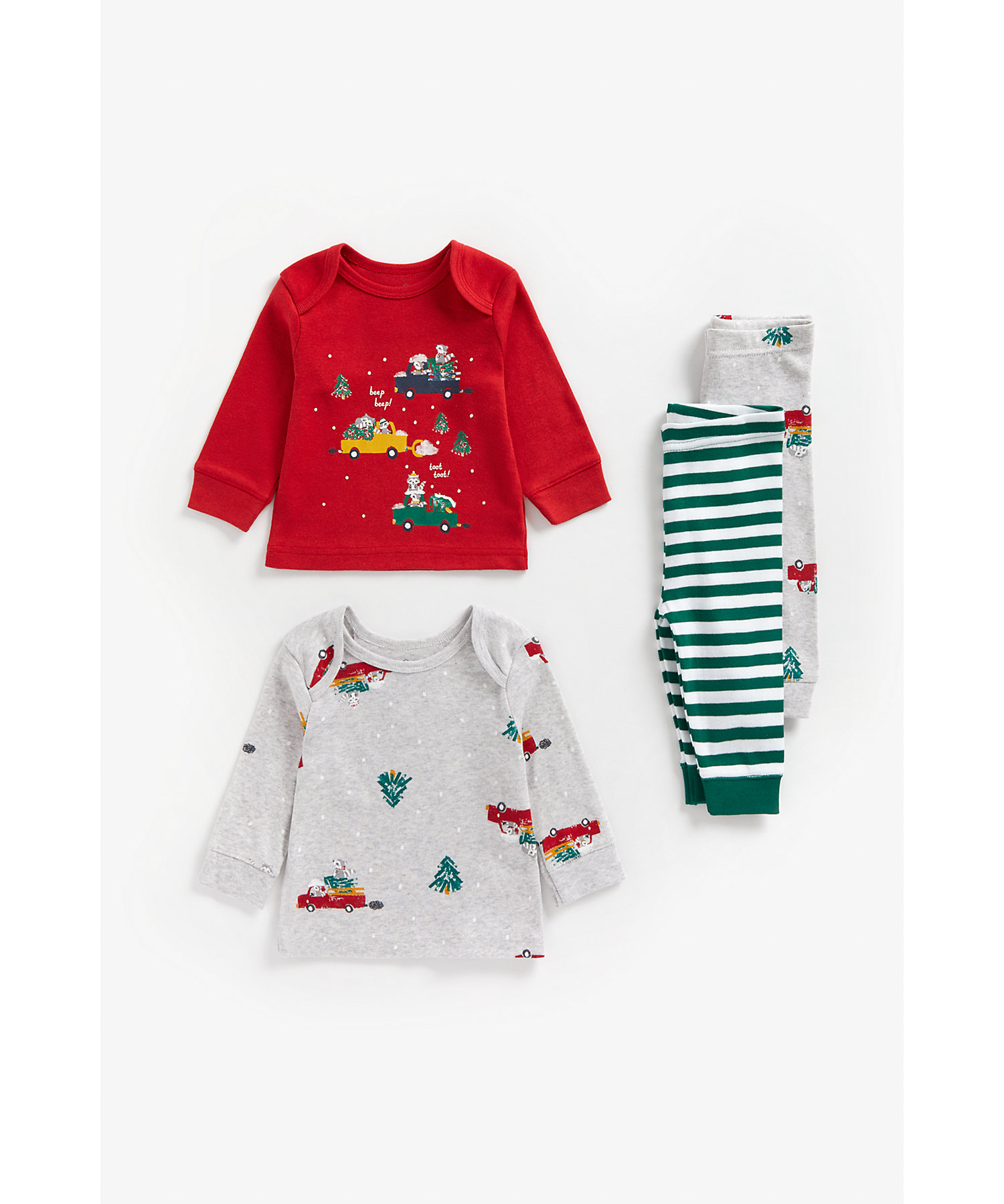 Mothercare | Boys Full Sleeves Pyjama Set -Pack of 2-Multicolor