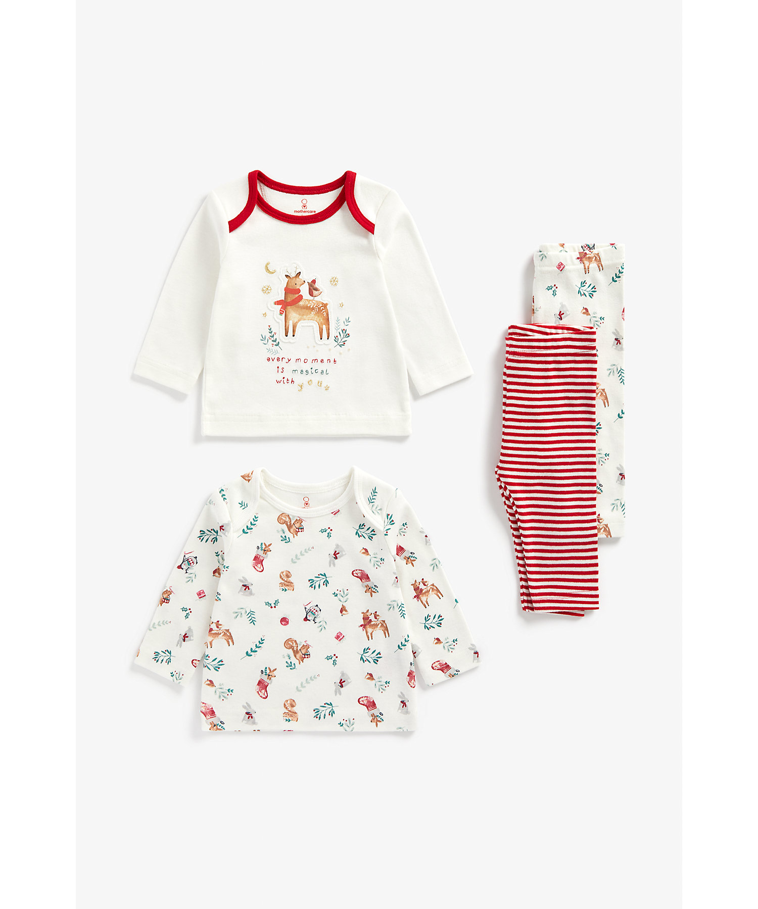Mothercare | Unisex Full Sleeves Pyjama Set -Pack of 2-Multicolor