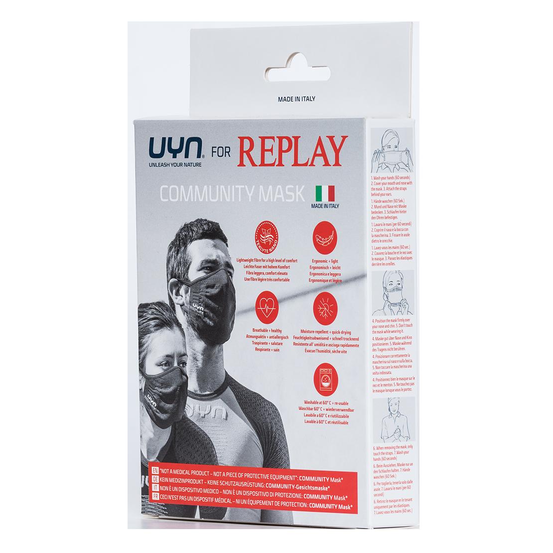 REPLAY | Black Nano Knit Mask