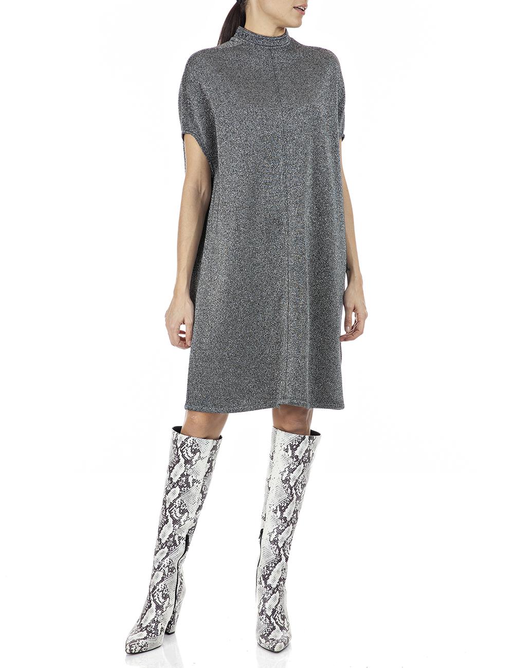 REPLAY | Silver Lurex lurex fleece Dress