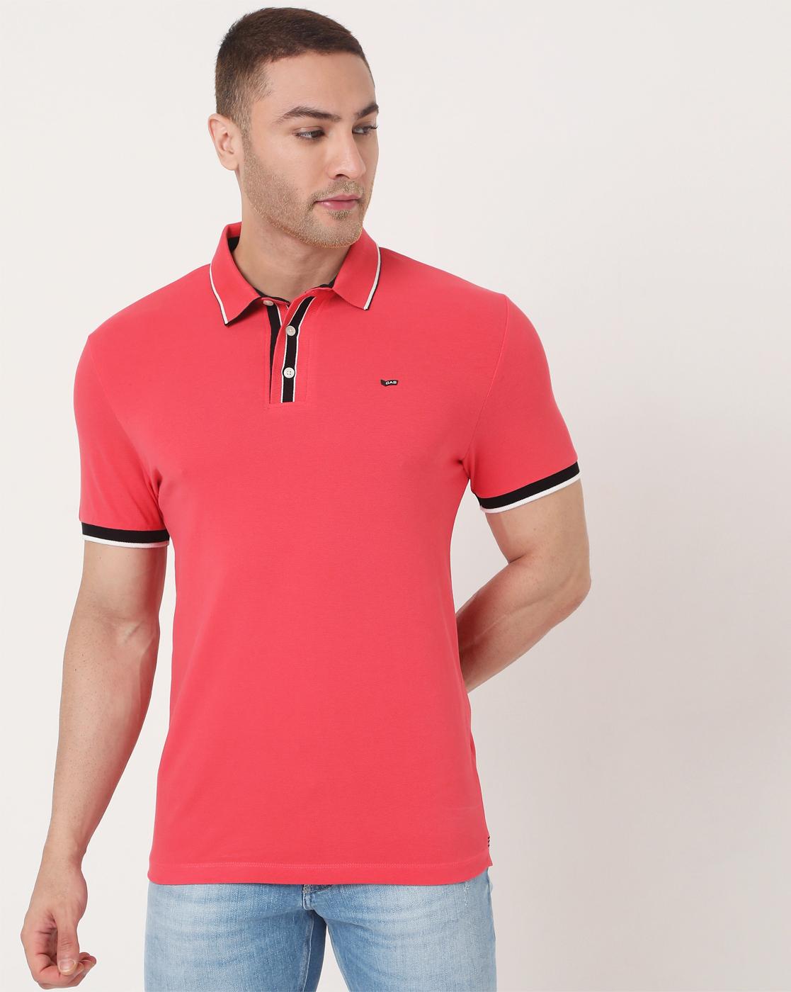 GAS | Men's Agap Ec In Slim Fit Solid Polo