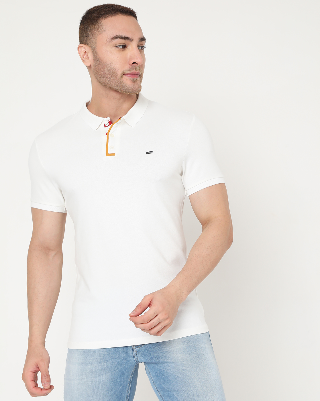 GAS | Men's Ralph Plack Ec In Slim Fit Solid Polo