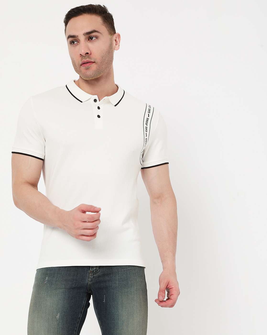 GAS | Men's Ralph Tape In Slim Fit Polo