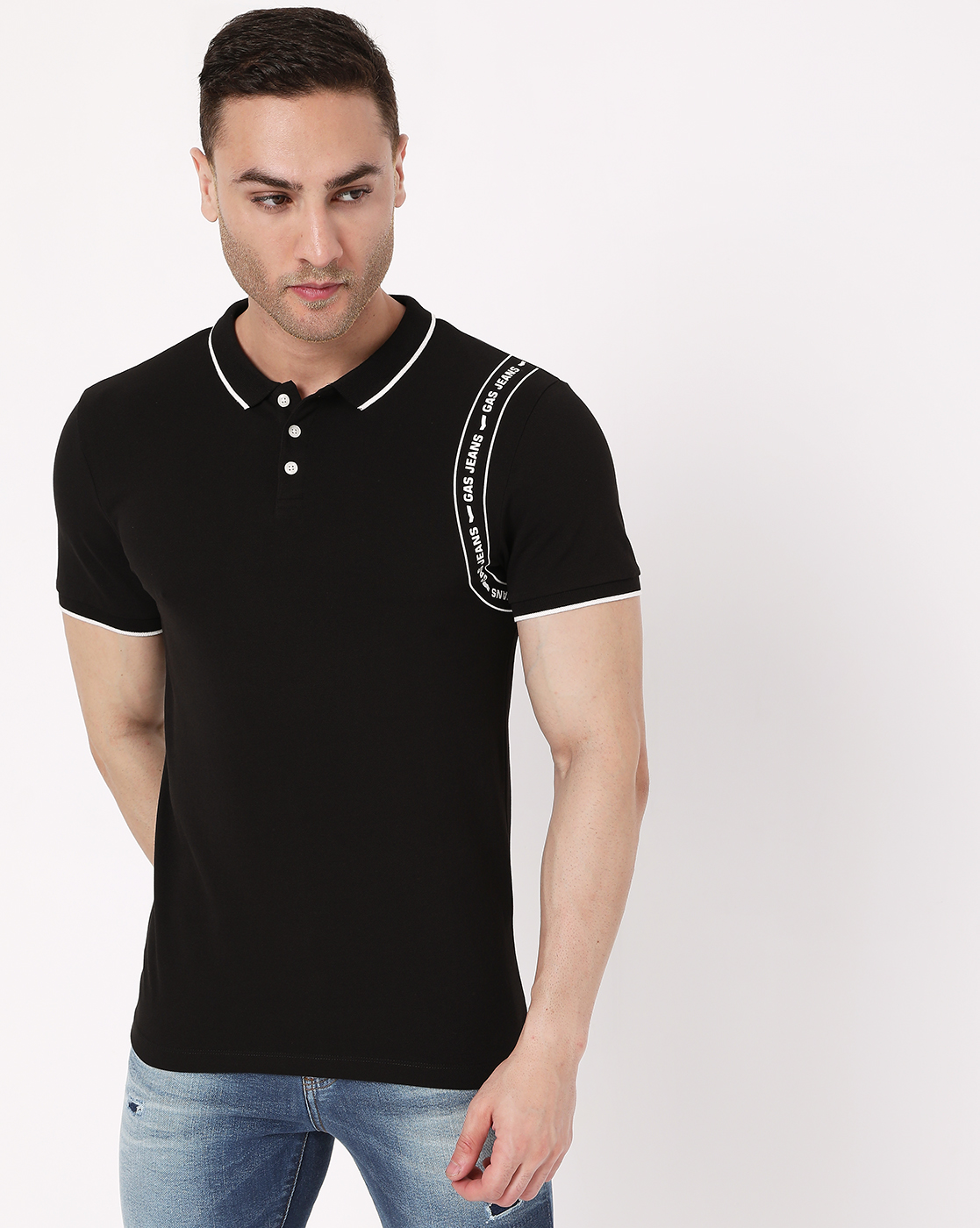GAS   Men's Ralph Tape In Slim Fit Polo