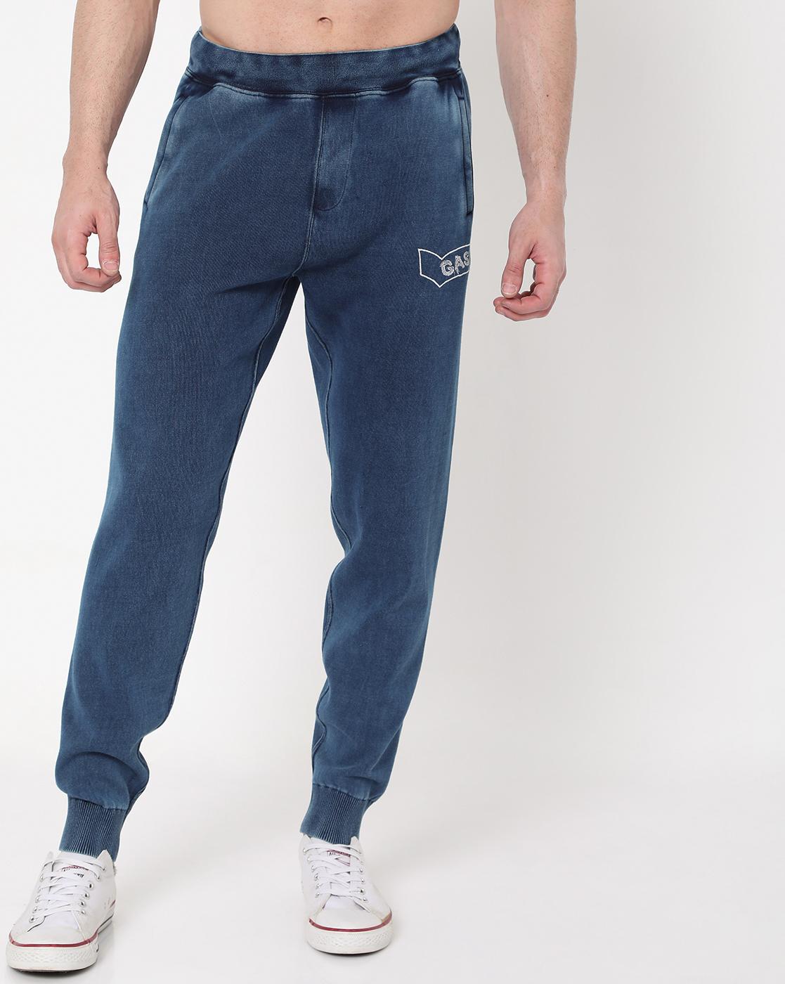 GAS | Men's Radar Indigo In Slim Fit Trackpants
