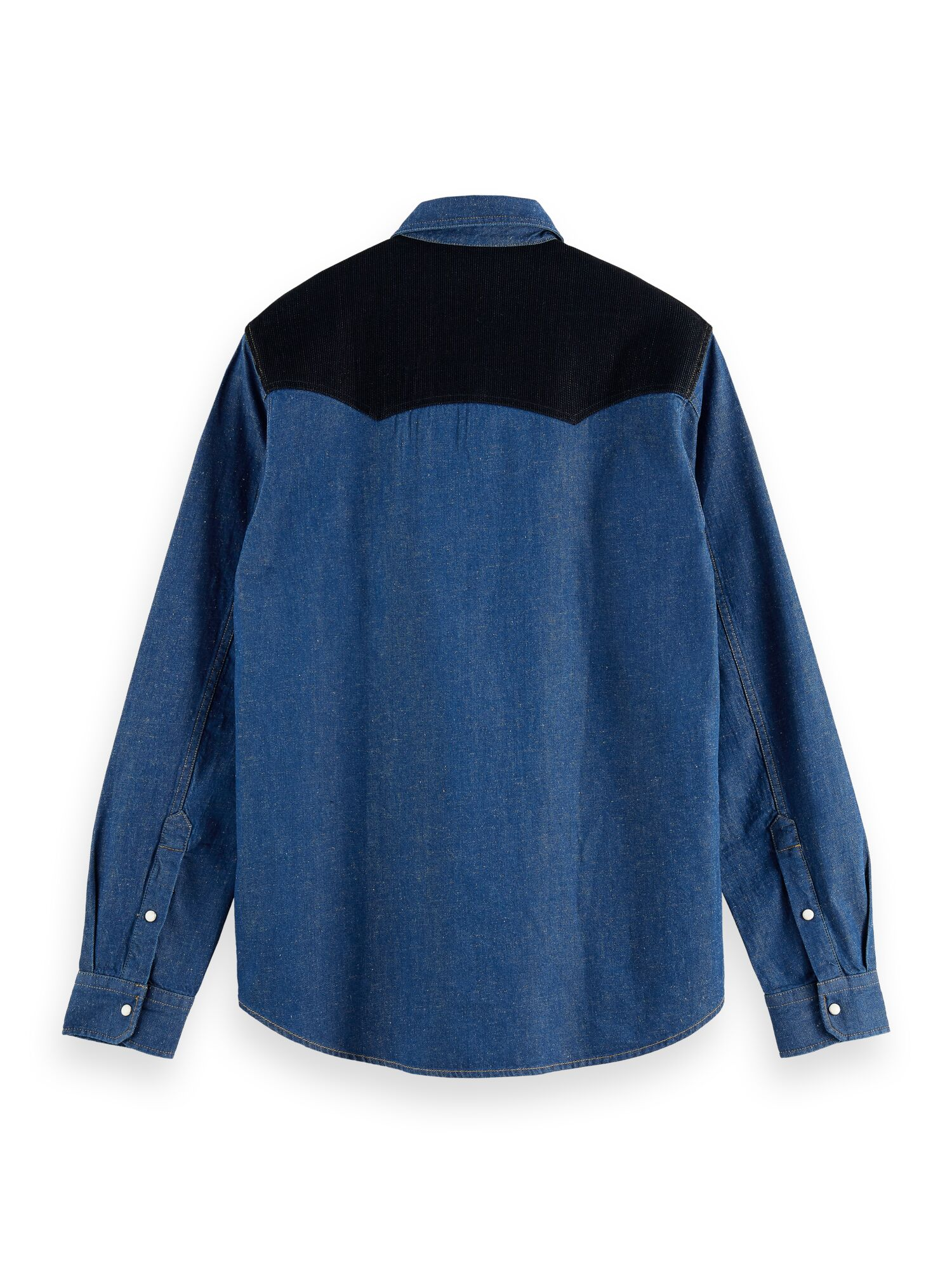 Scotch & Soda   RELAXED FIT - Ams Blauw denim overshirt with organic cotton