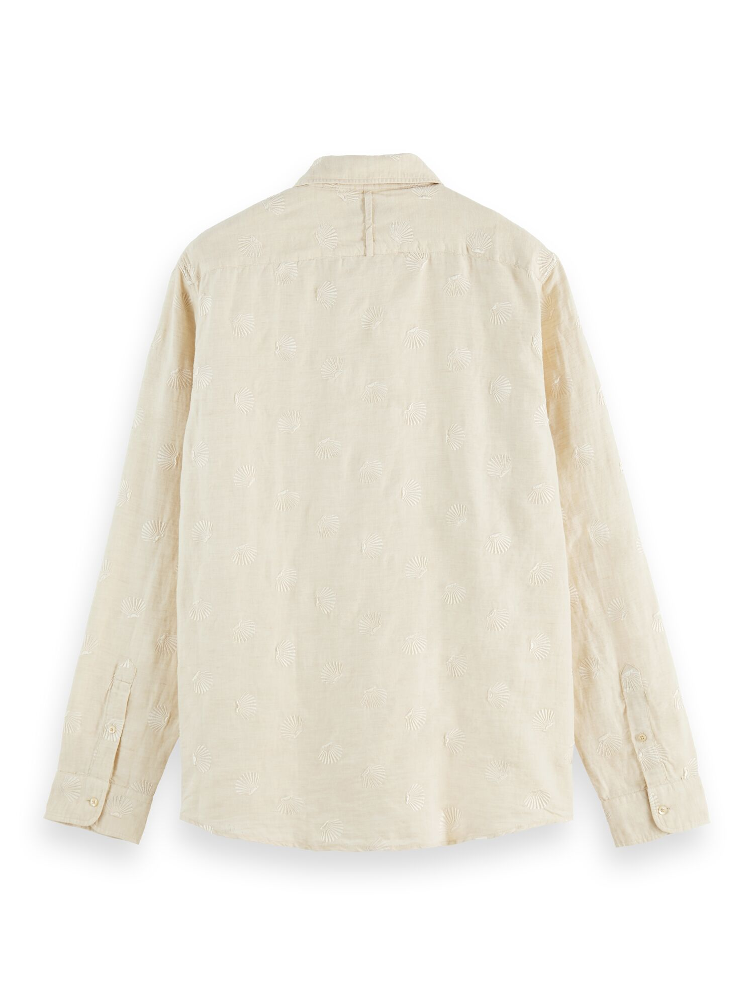 Scotch & Soda   RELAXED FIT- Embroidered organic cotton blend shirt