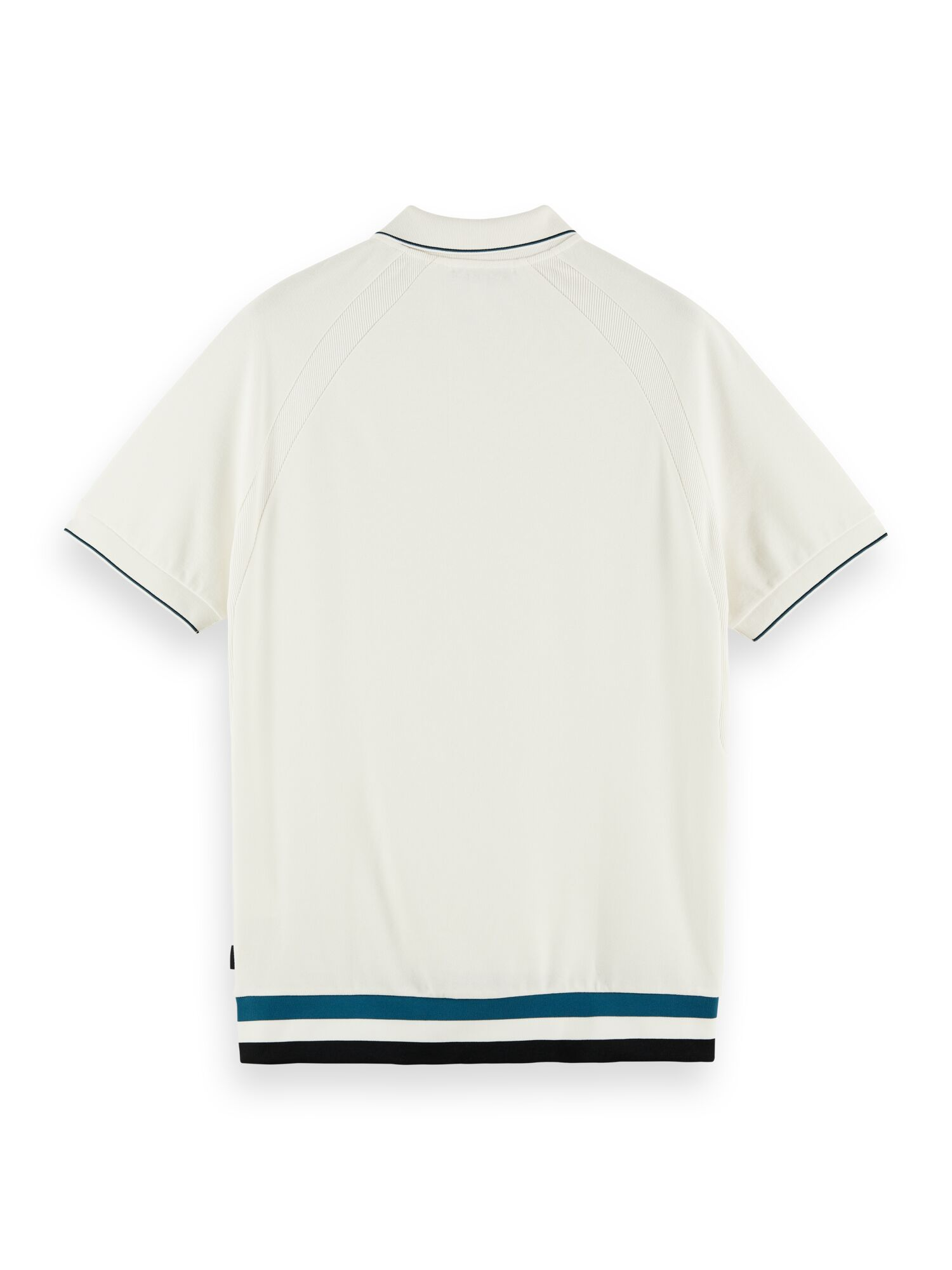 Scotch & Soda | Structured cotton pique polo with contrast tipping