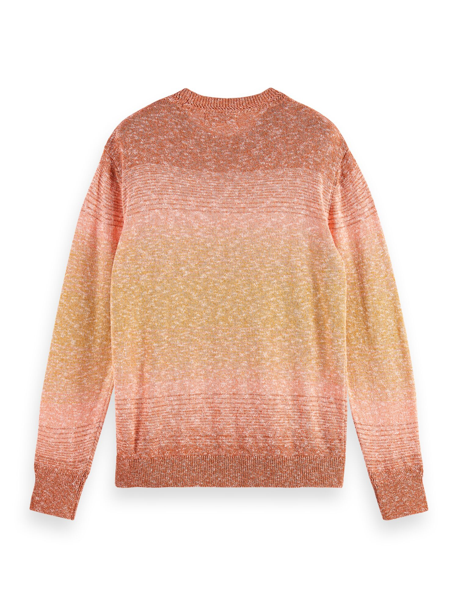 Scotch & Soda | Recycled cotton blend crewneck pull in melange knit