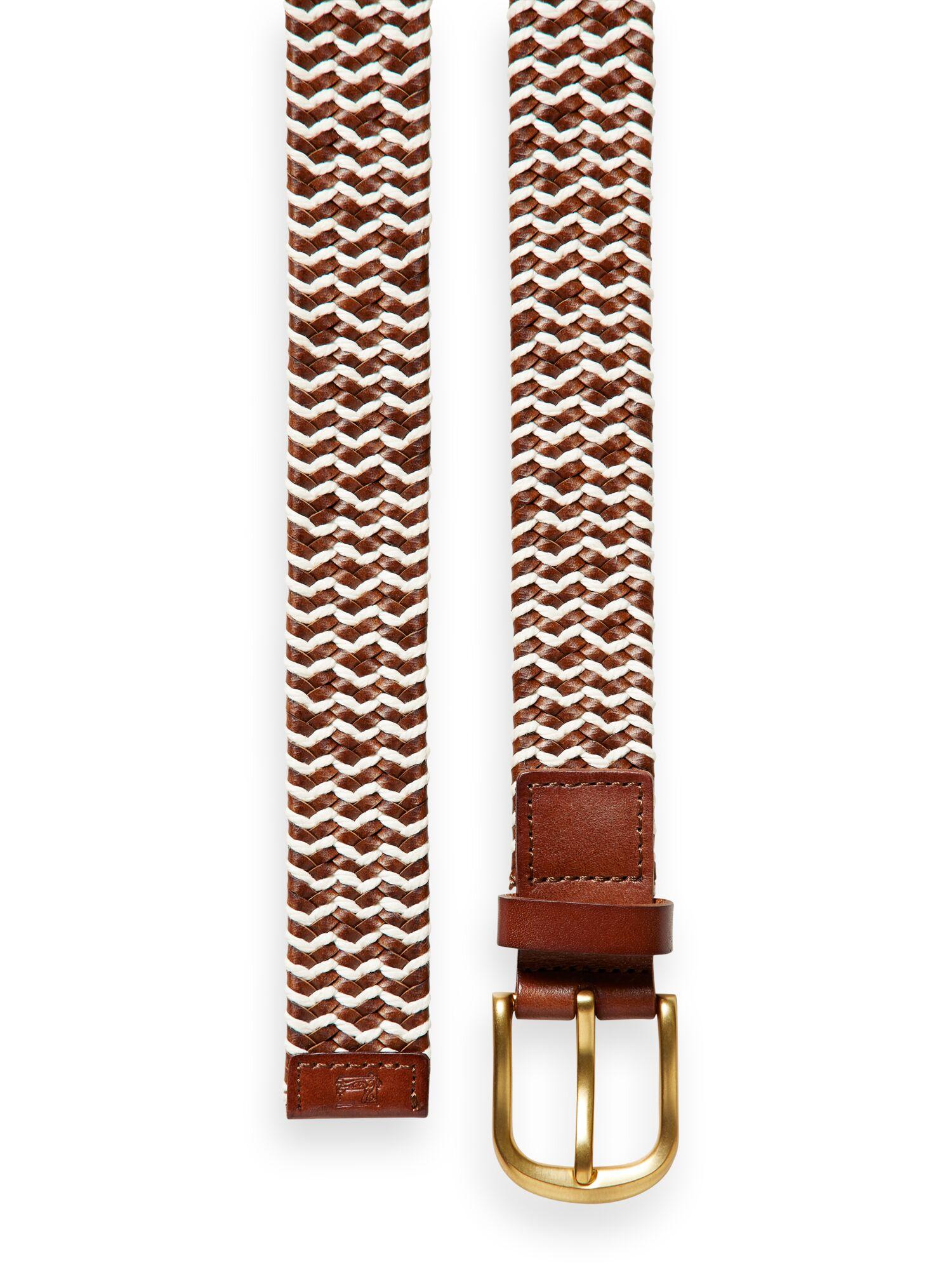 Scotch & Soda | Braided leather and cord belt
