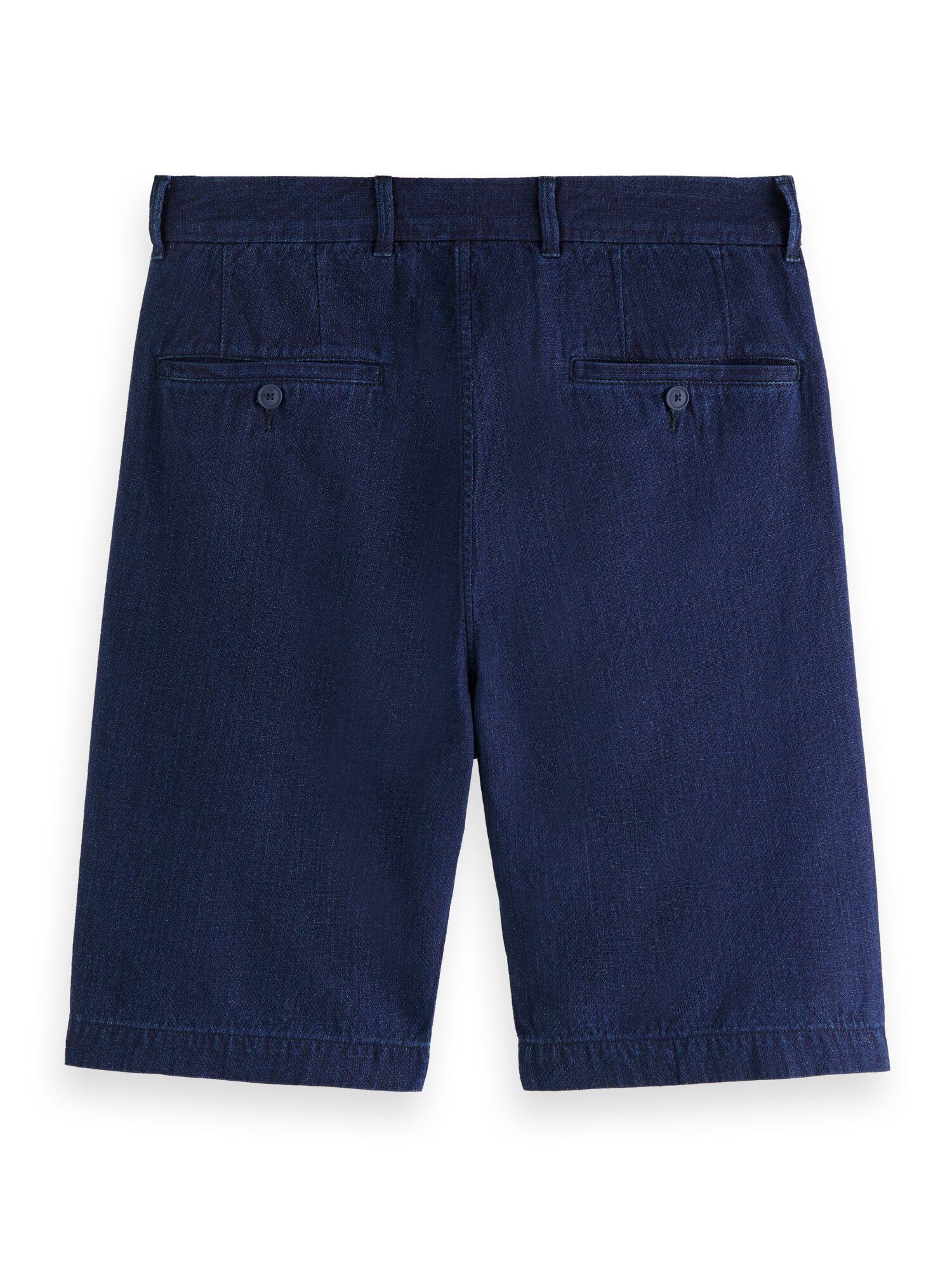 Scotch & Soda   Ams Blauw cotton/linen indigo Fave chino short