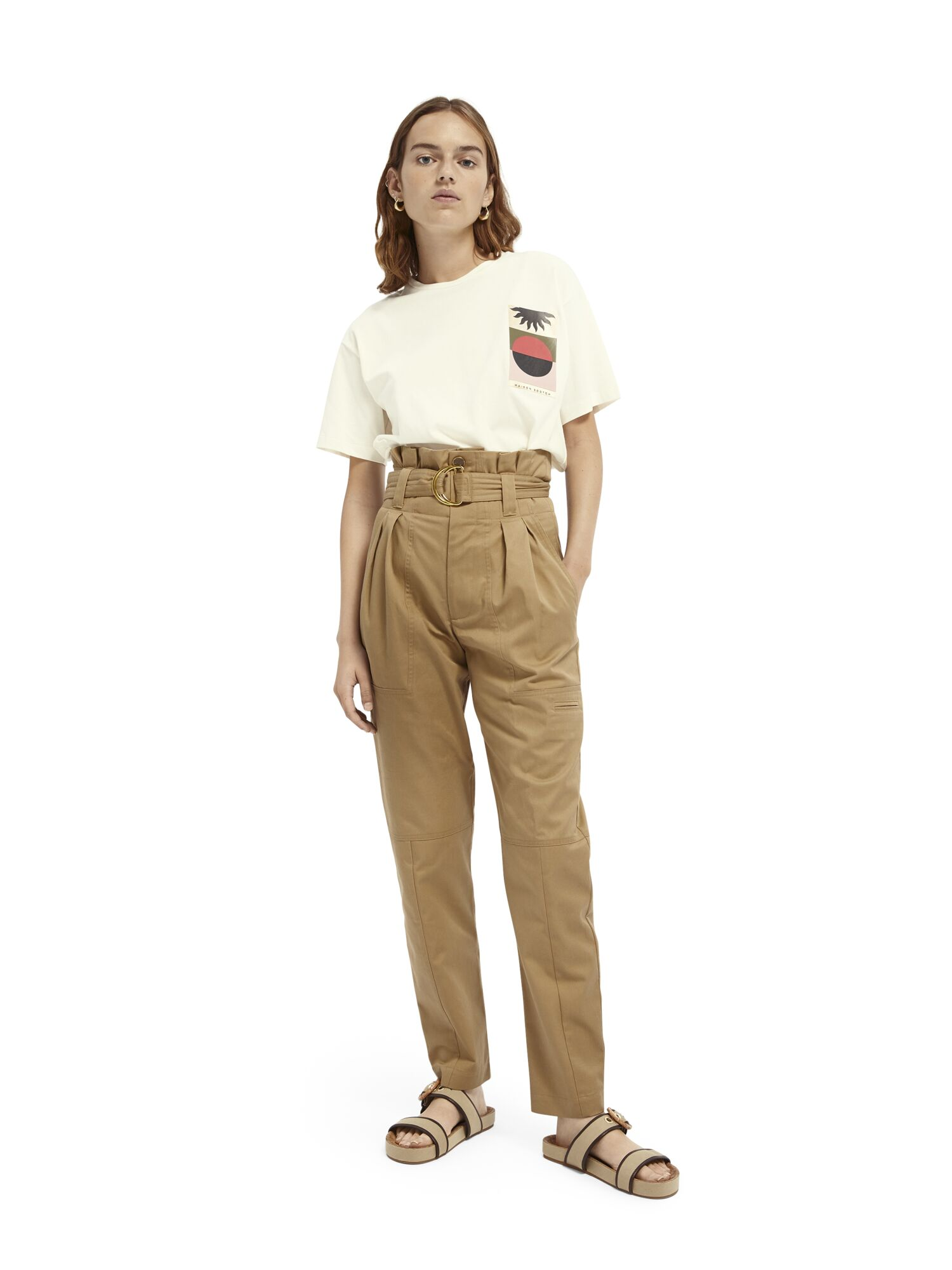 Scotch & Soda | Paperbag cargo pants in clean twill