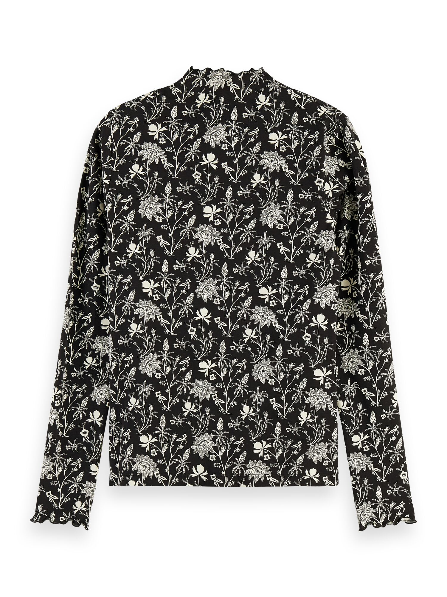 Scotch & Soda | Cotton printed longsleeve tee with high neck