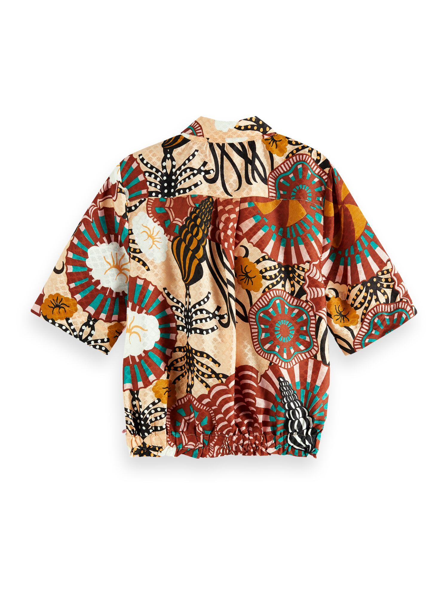 Scotch & Soda | Hawaii shirt in printed viscose jacquard