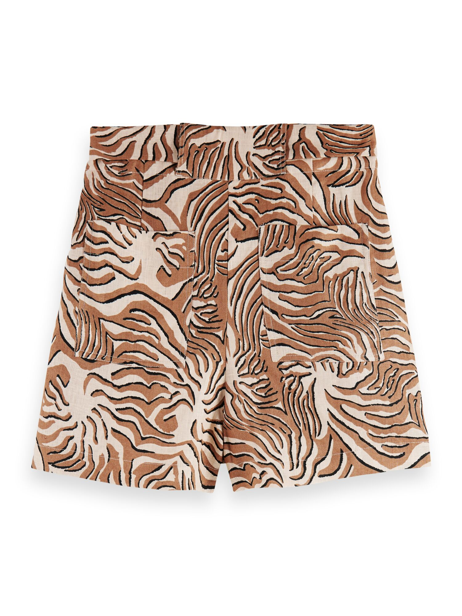Scotch & Soda | Printed linen shorts with belt