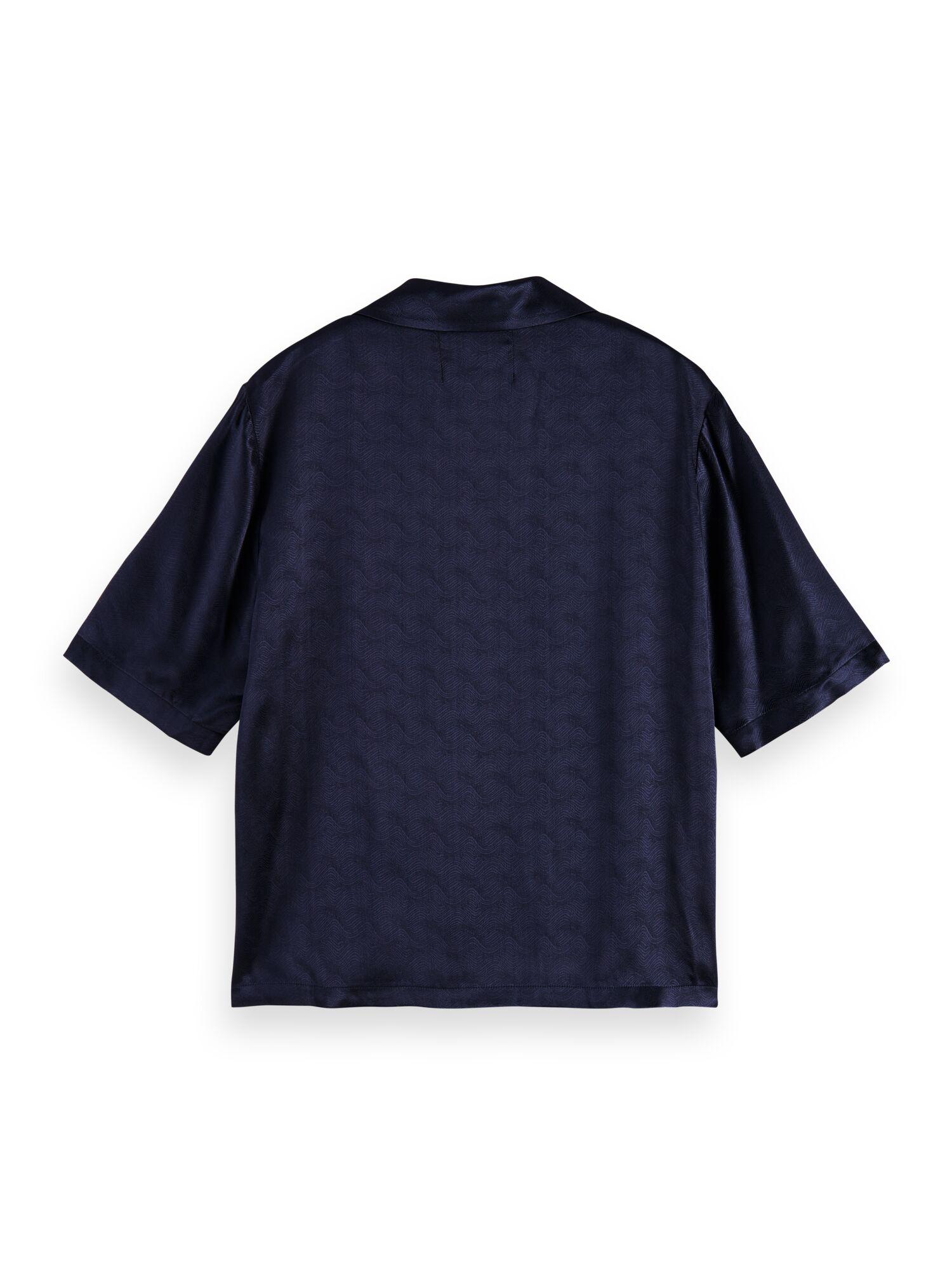Scotch & Soda   Short sleeve shirt in wave jacquard quality