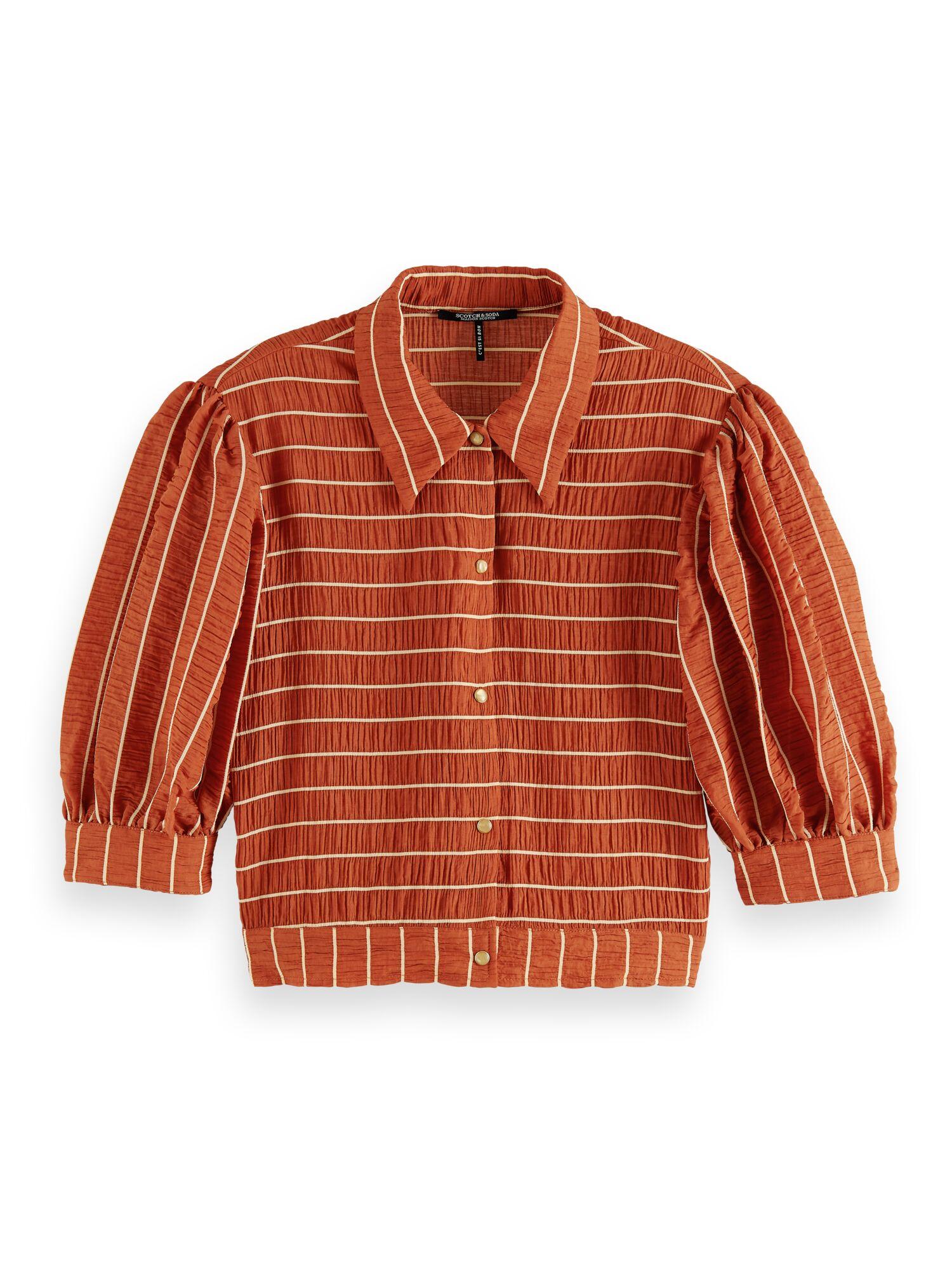 Scotch & Soda | Short sleeve Tencel mix shirt in seersucker stripe
