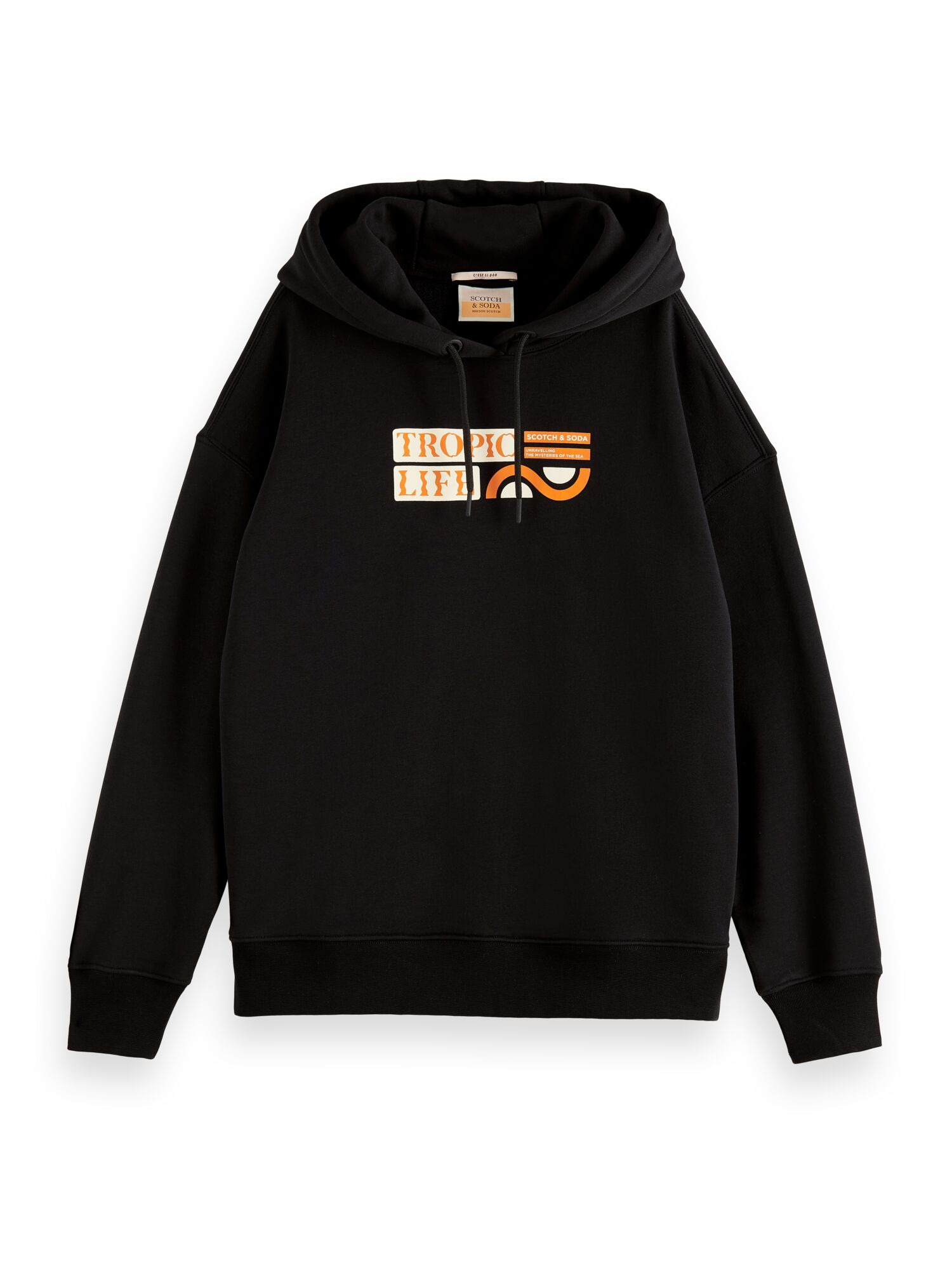 Scotch & Soda | Loose fit hoodie with graphic in organic cotton blend