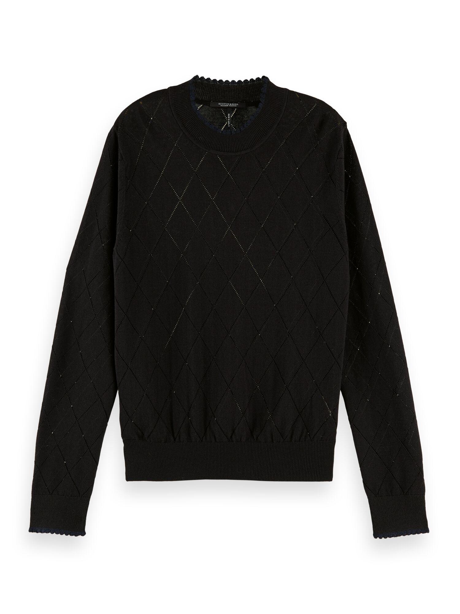 Scotch & Soda | Pointelle stitch knit in organic cotton viscose blend