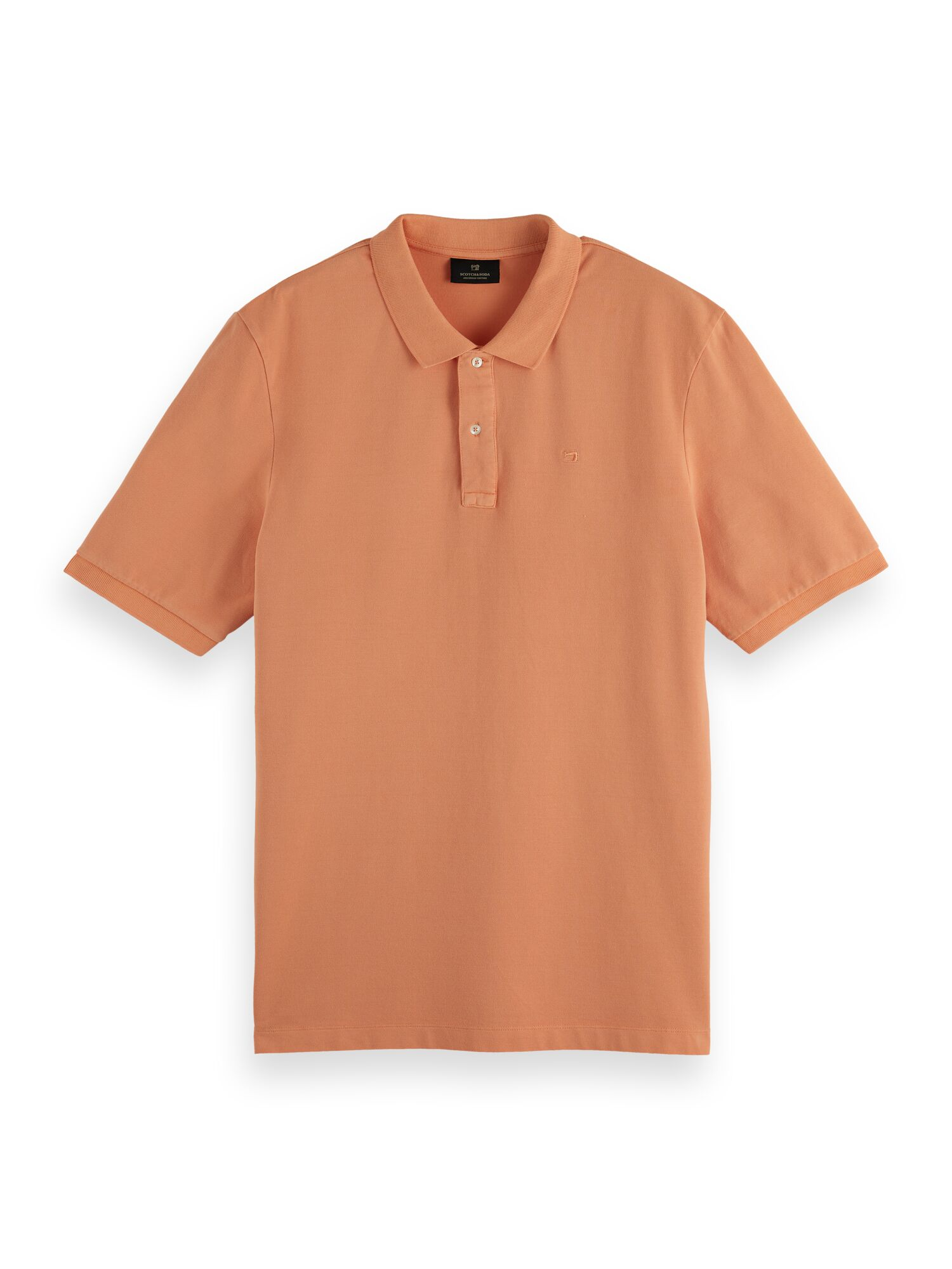 Scotch & Soda   Garment-dyed cotton pique polo
