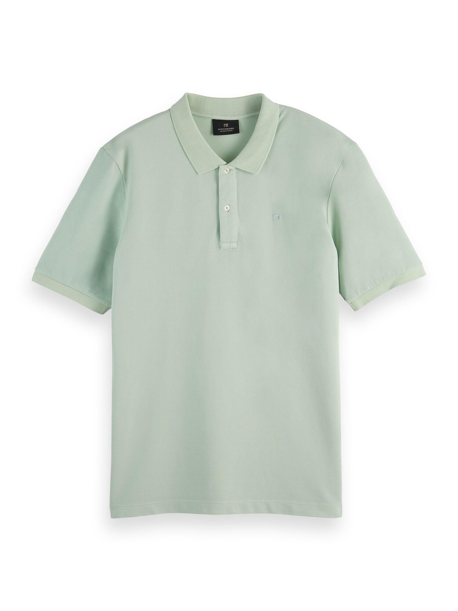 Scotch & Soda | Garment-dyed cotton pique polo