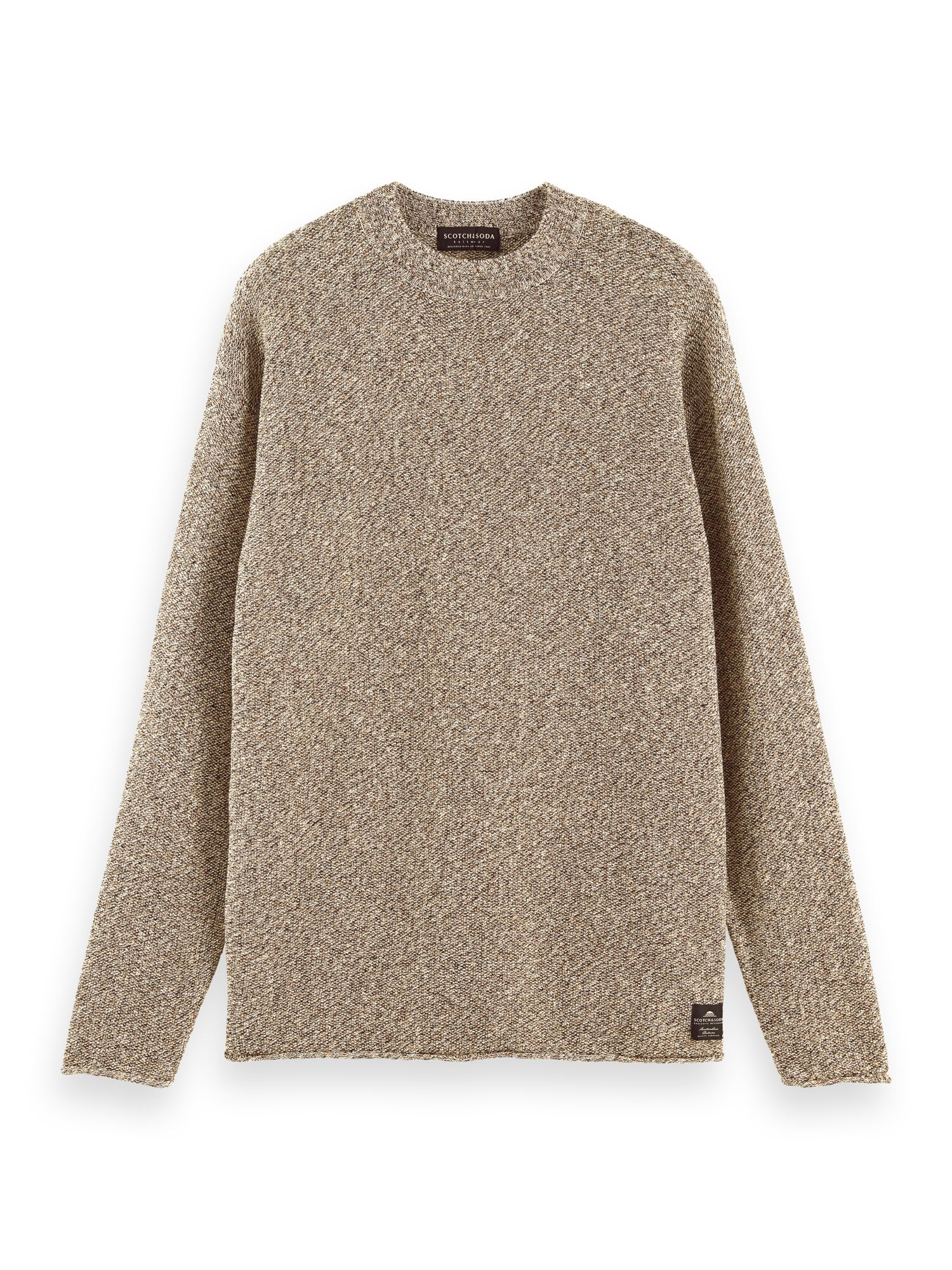 Scotch & Soda | Lightweight cotton linen blend pull in structured knit