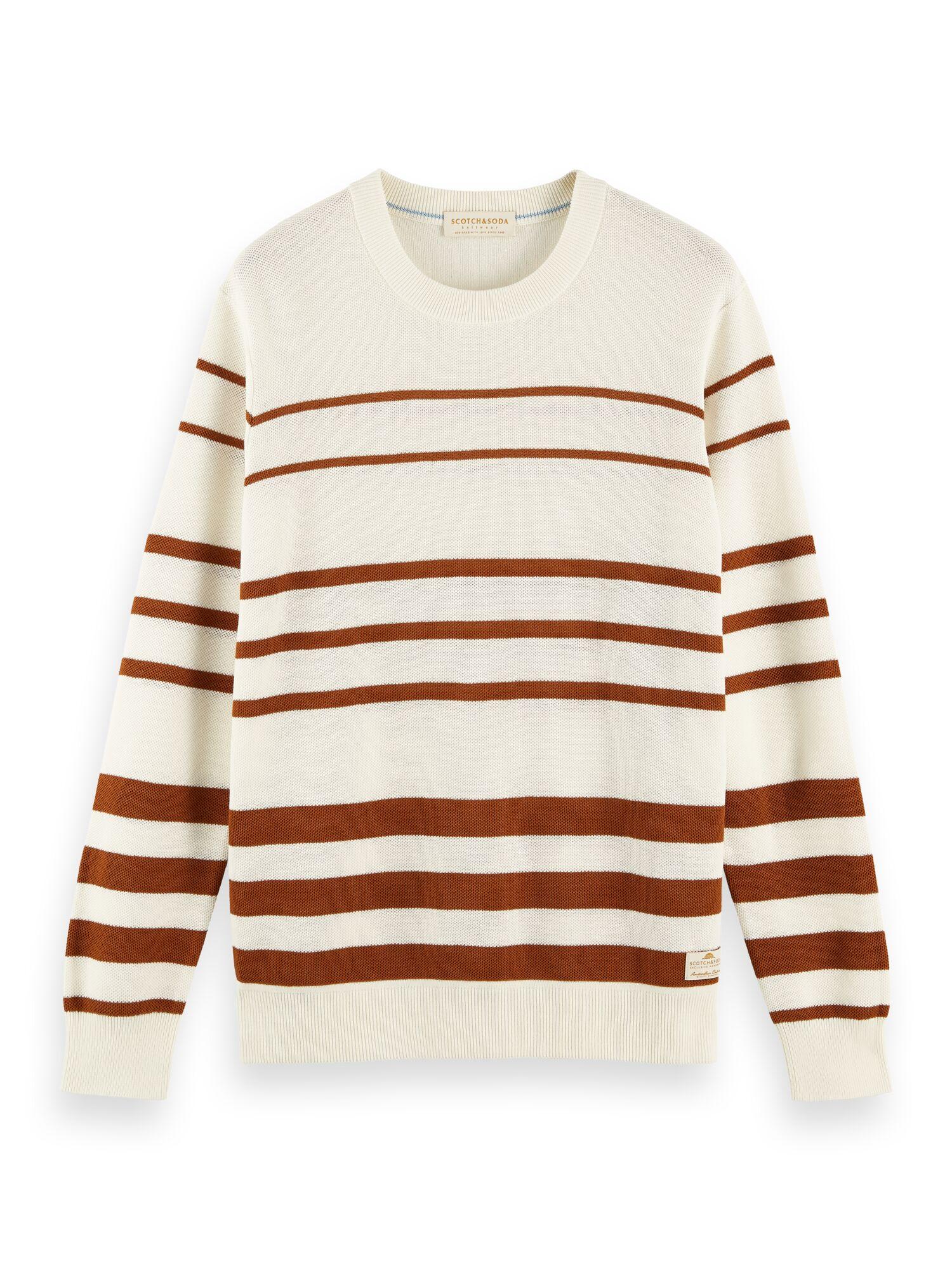 Scotch & Soda | Organic cotton crewneck pull in structured knit