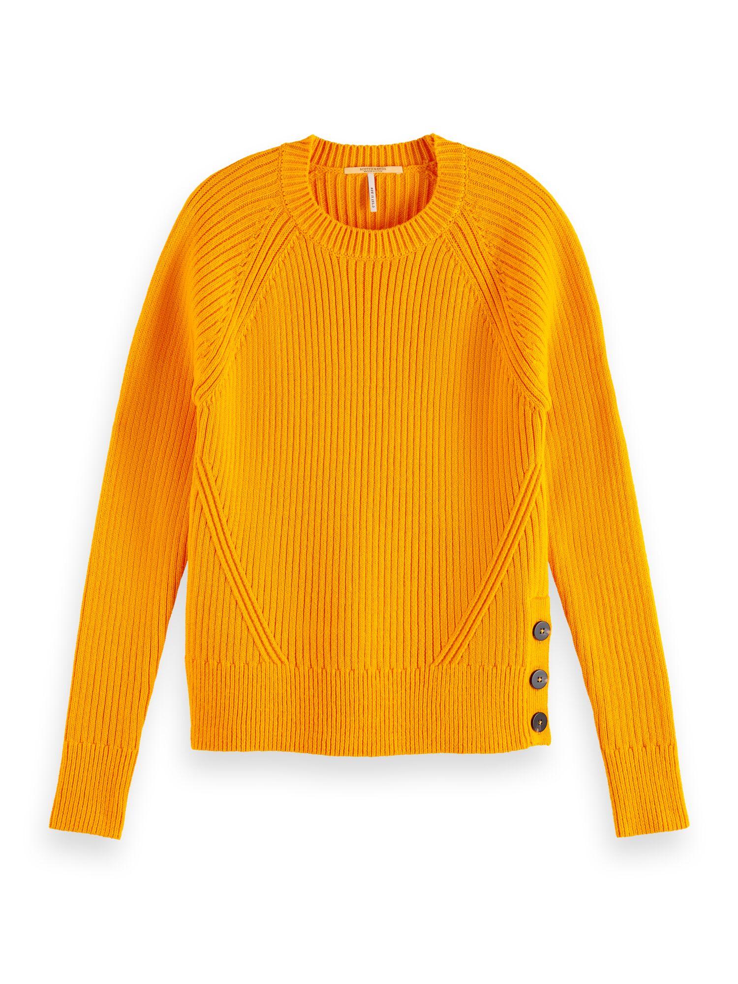 Scotch & Soda | Crew neck ribbed knit in organic cotton blend