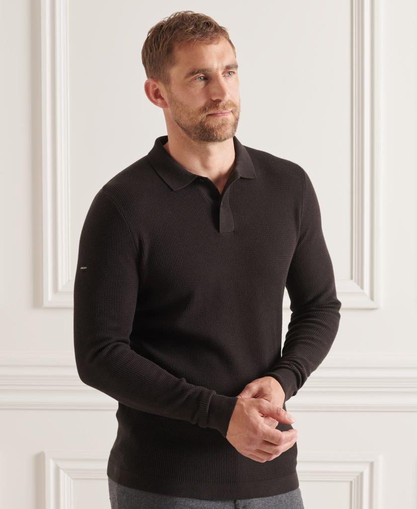 Superdry   STUDIOS L/S KNITTED POLO