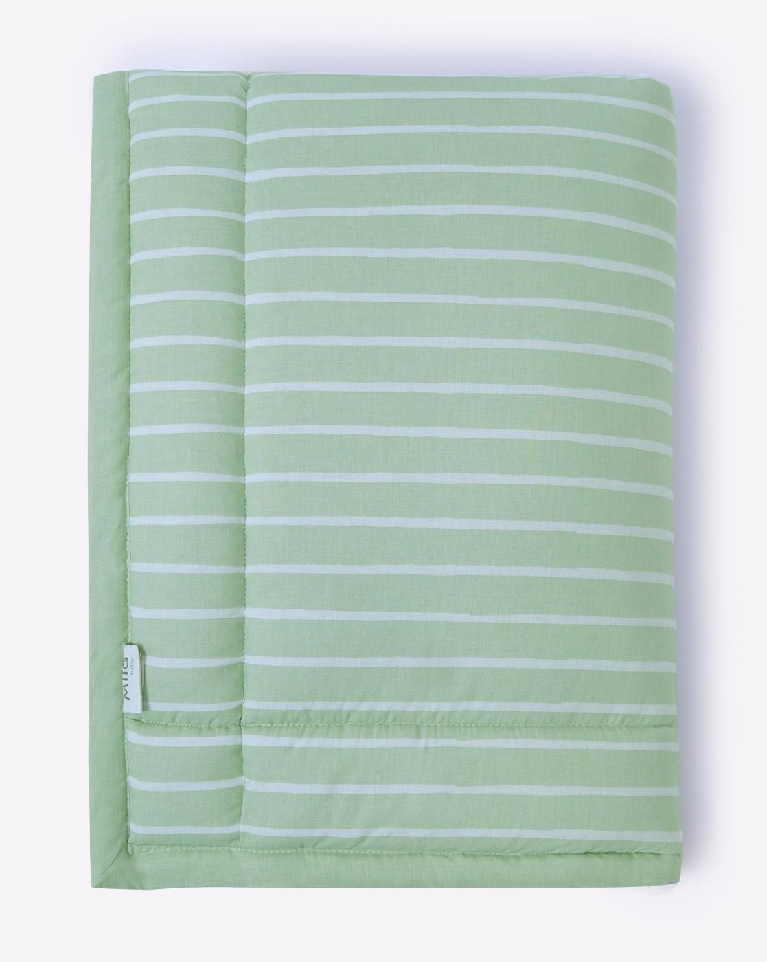 Mothercare | Mila Baby Green Stripe Mattress