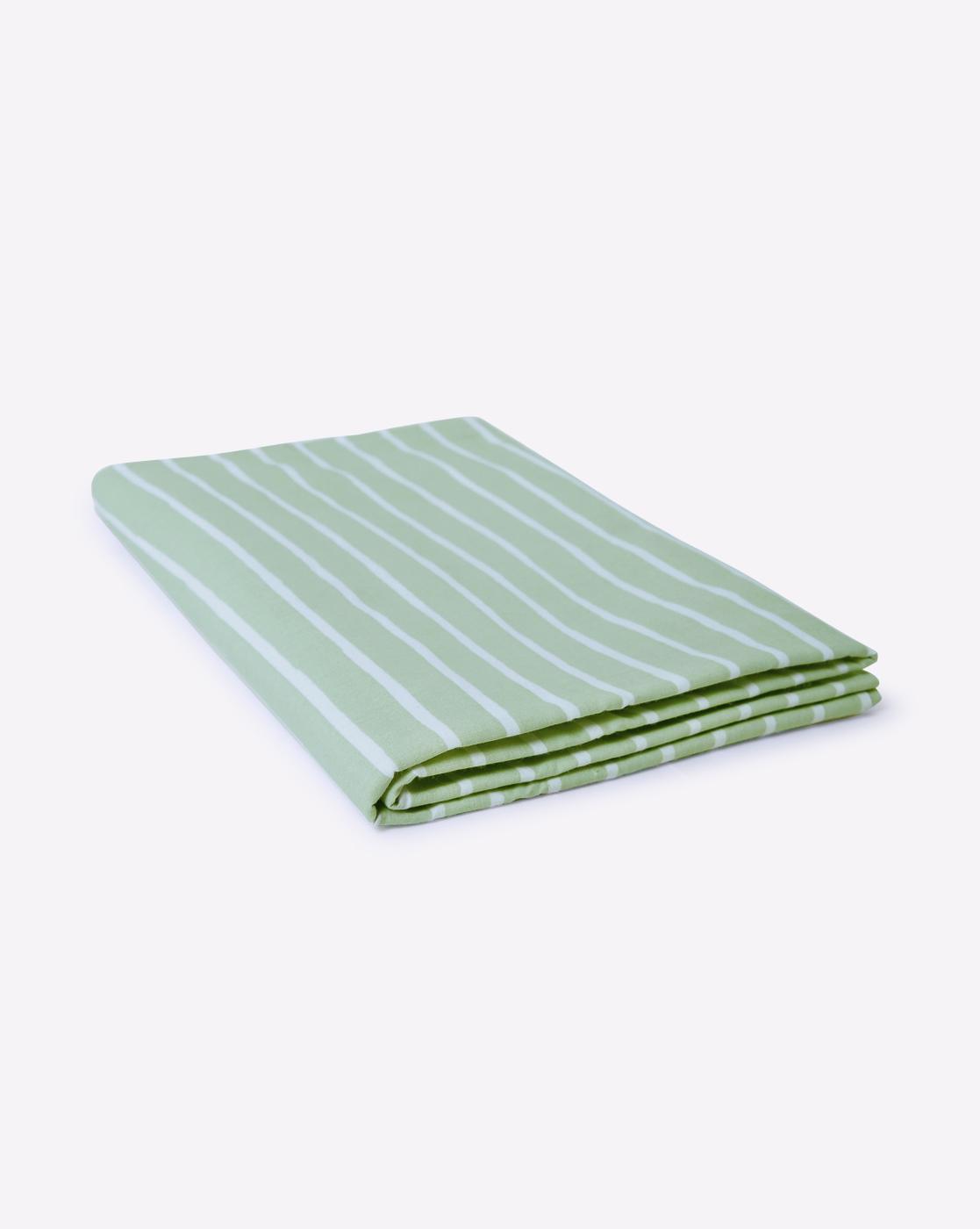 Mothercare   Mila Baby Green Stripes Flat Sheet