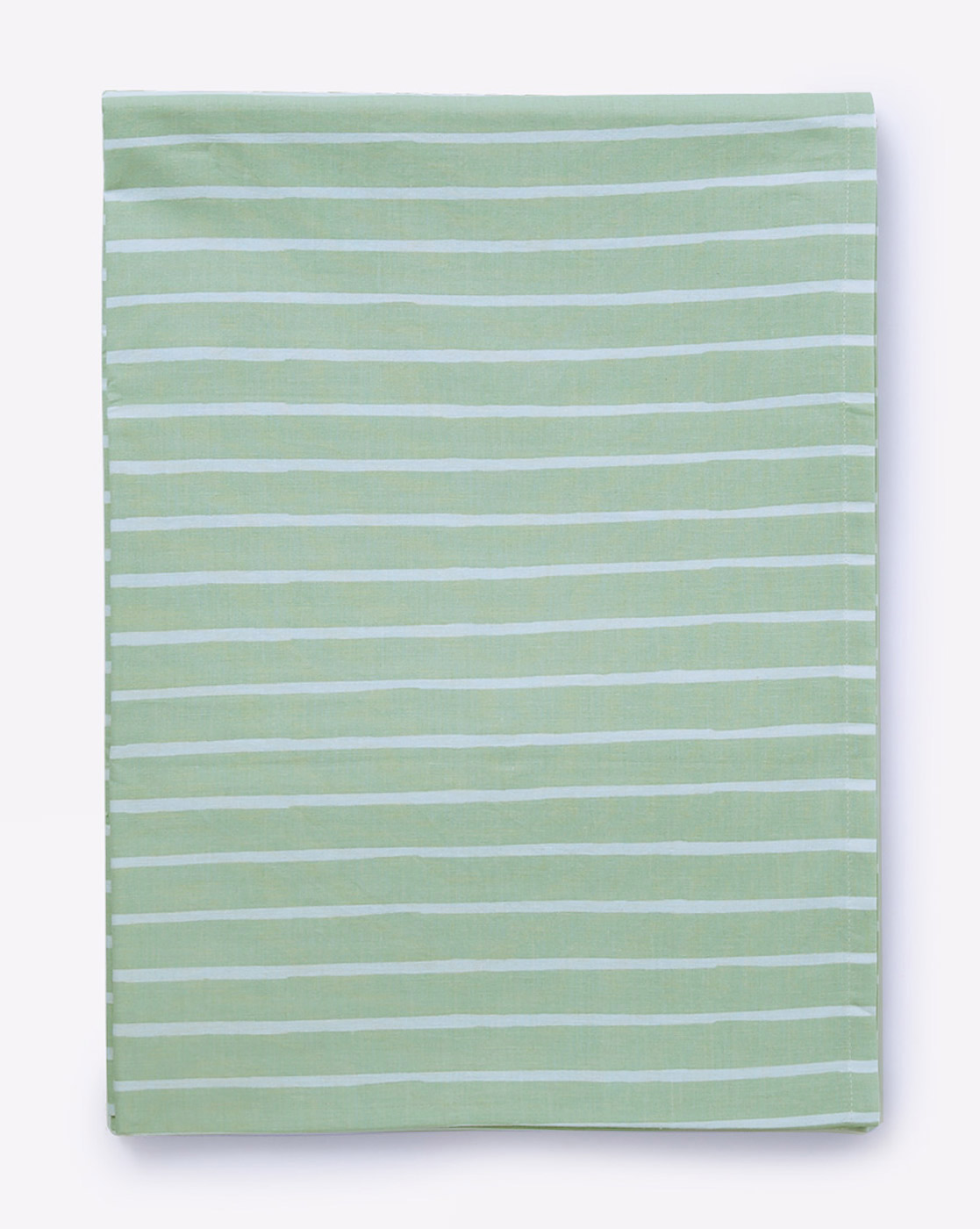 Mothercare   Mila Baby Green Stripes Large Fitted Sheet (Cot Bed)